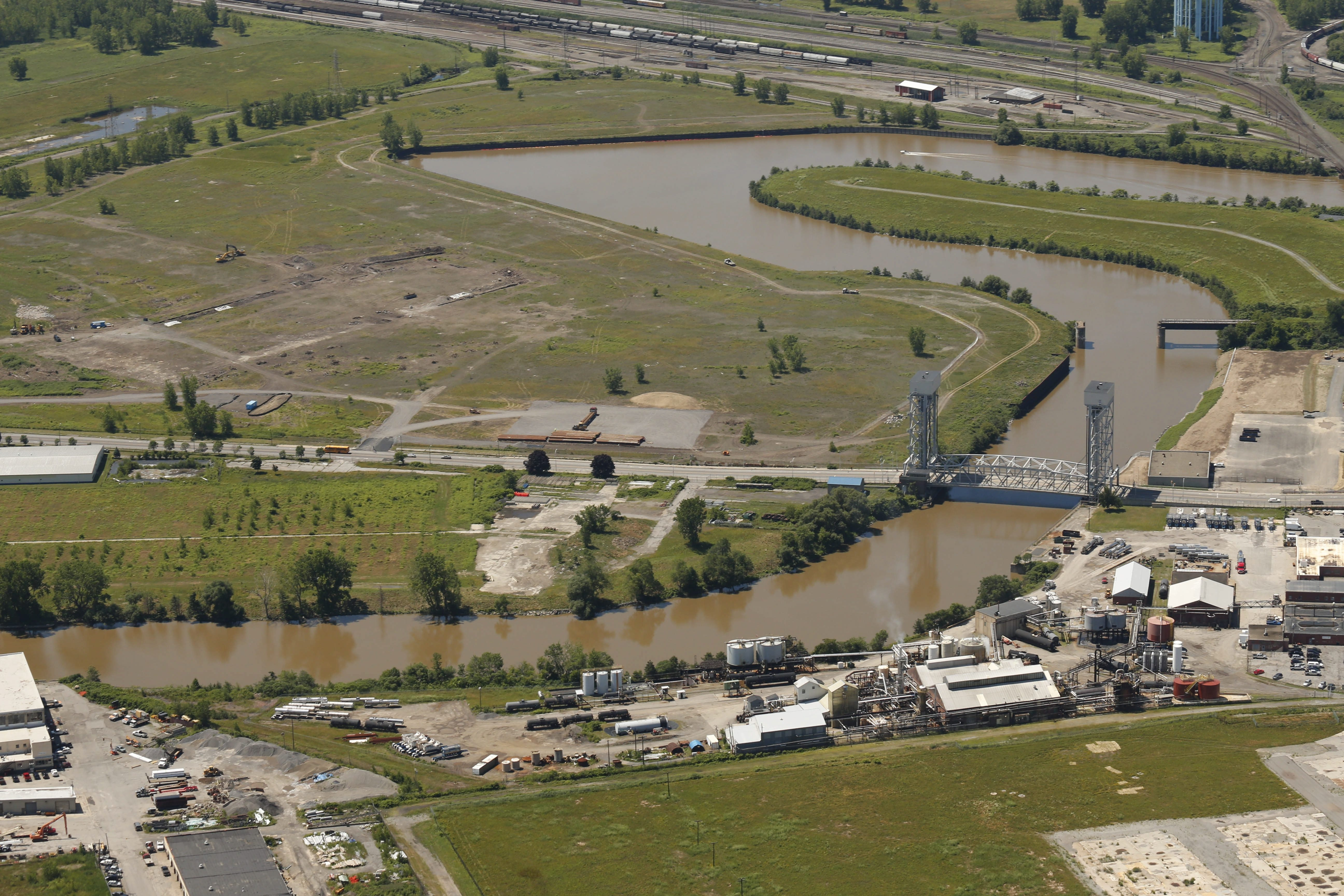The RiverBend site on the Buffalo River, where excavation work is beginning on a new clean energy hub in South Buffalo.