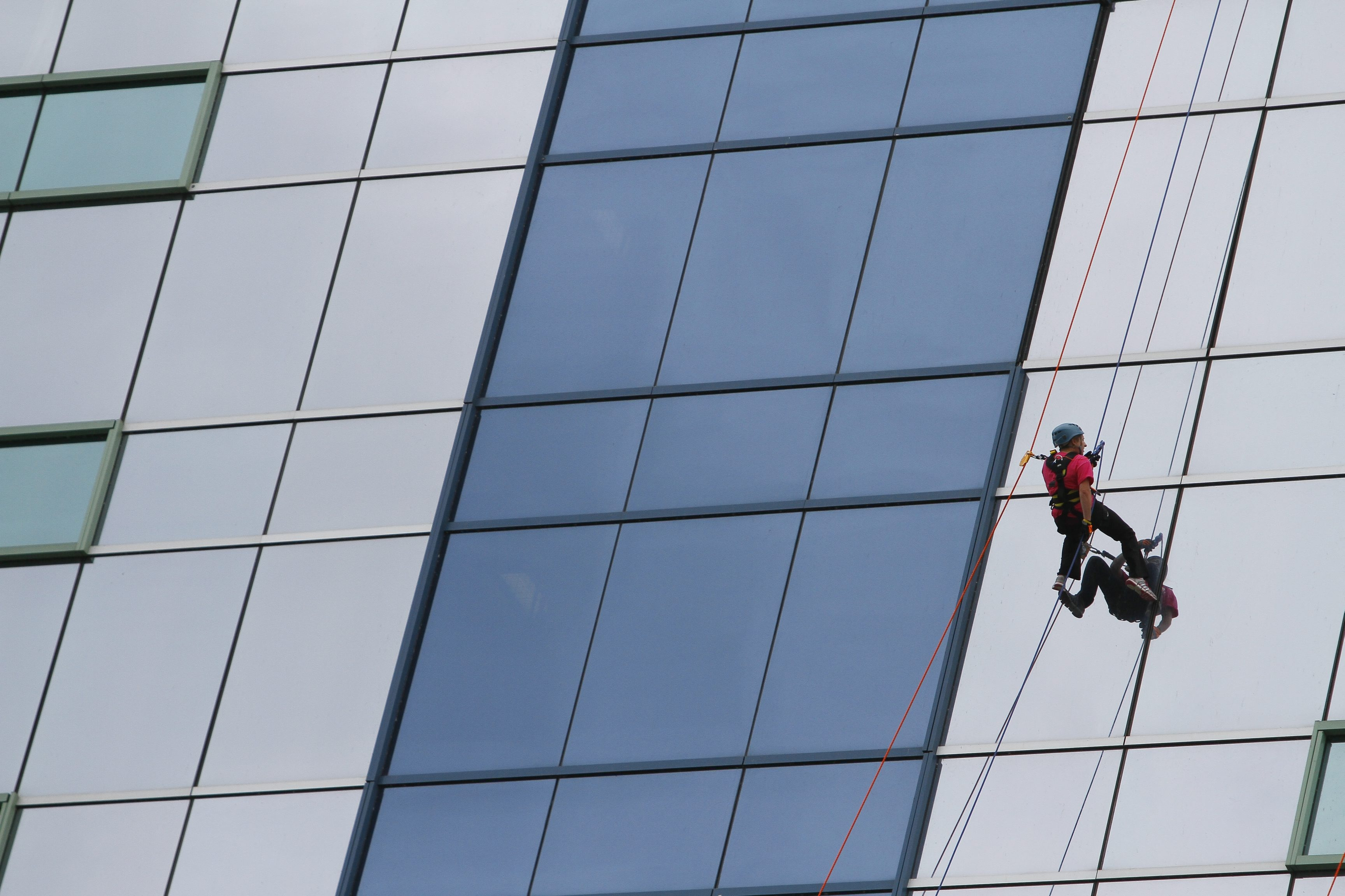 Buffalo News file photo shows a participant rappeling down the side of the Seneca Niagara Casino in the 2012 benefit for the Special Olympics.