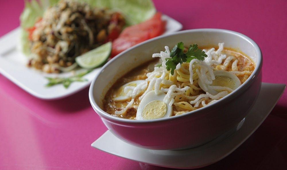 A Burmese-style noodle soup, Own No Koksware, is a food that's found its way into Buffalo's vernacular. (Sharon Cantillon/Buffalo News)