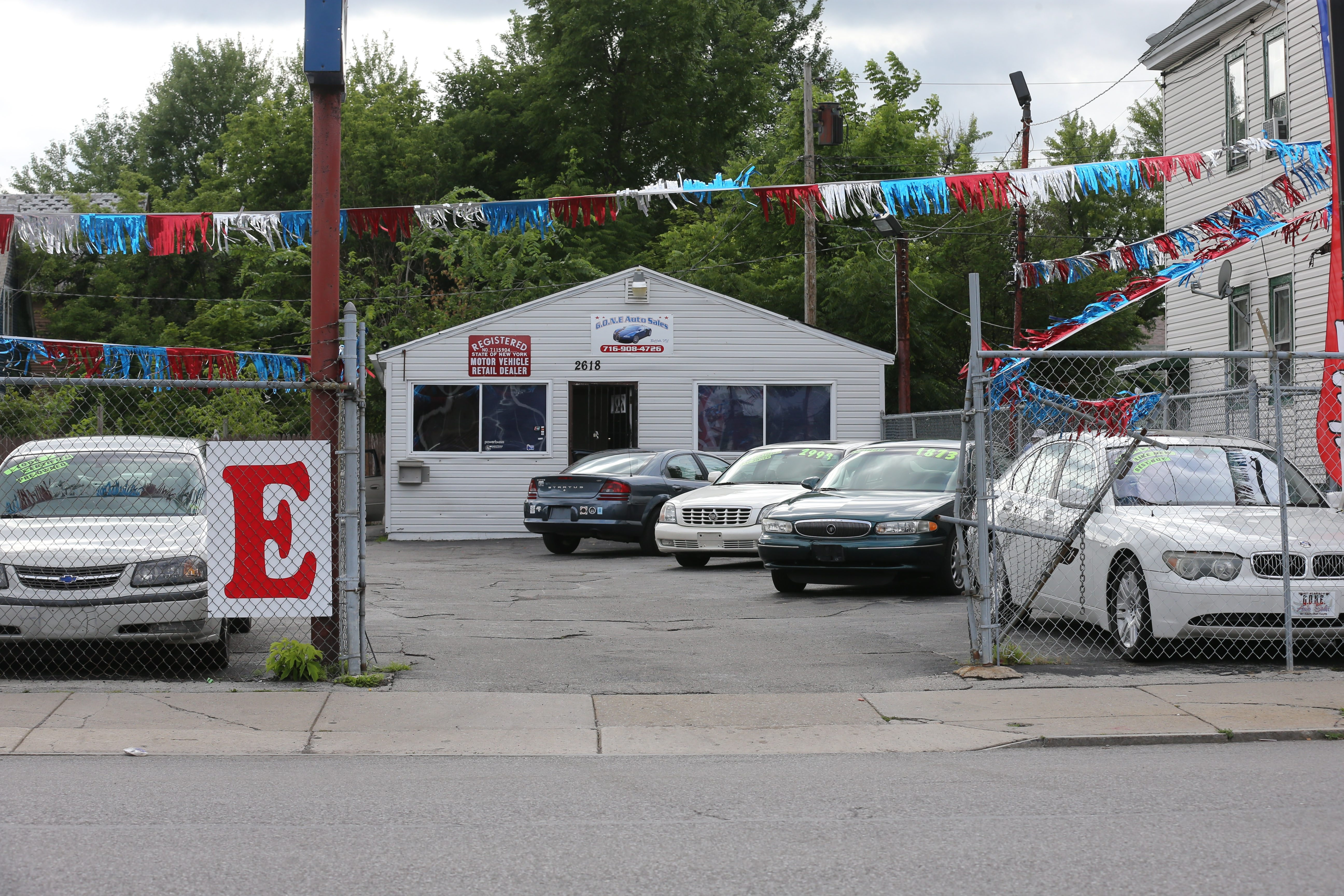 Gone Auto Sales, at 2618 Bailey Ave. in Buffalo, Wednesday, July 23, 2014. (Charles Lewis/Buffalo News)