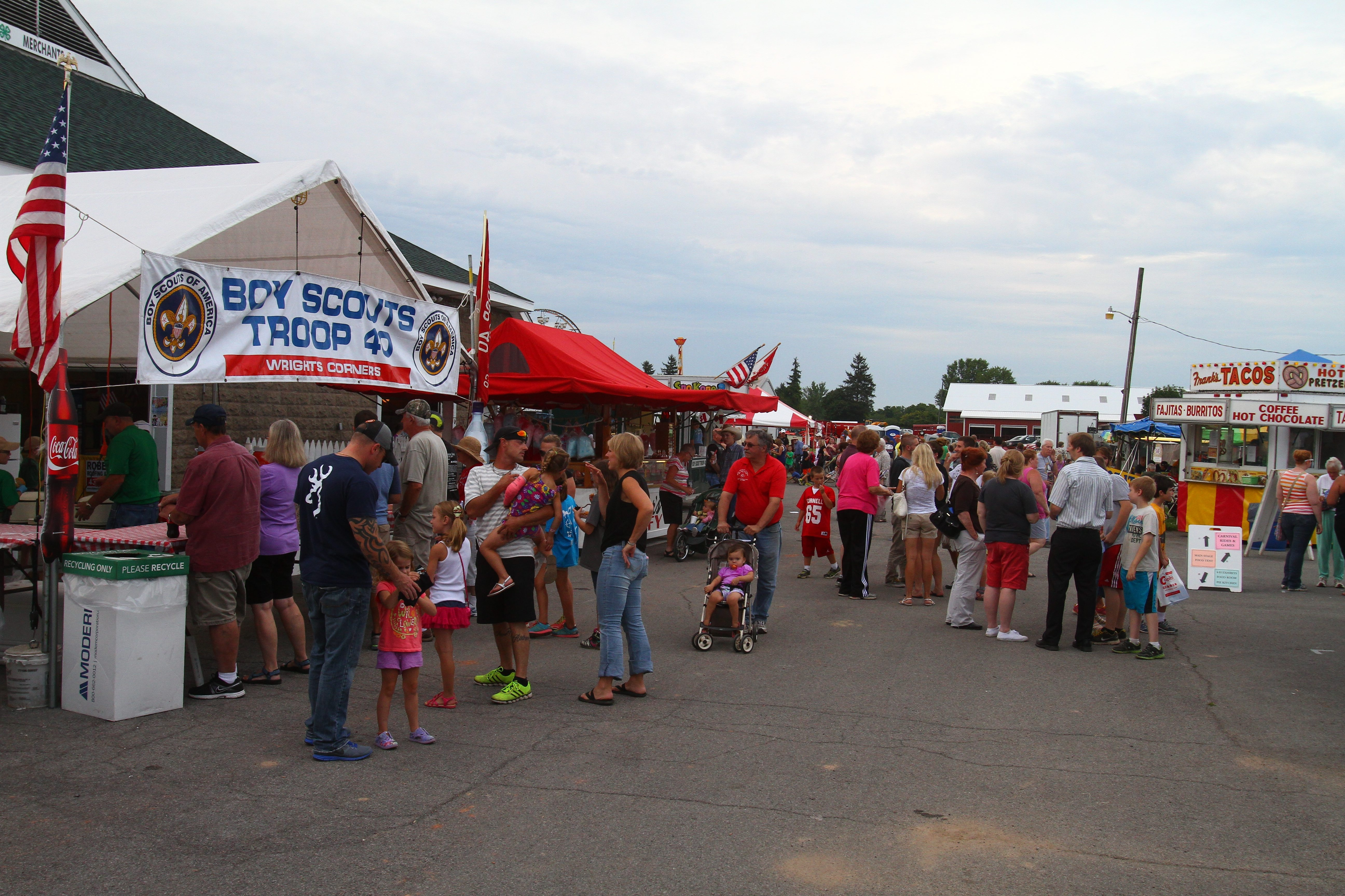 Fairgoers turn out on the first day of the Niagara County Fair at Niagara County Fairgrounds last July 31.