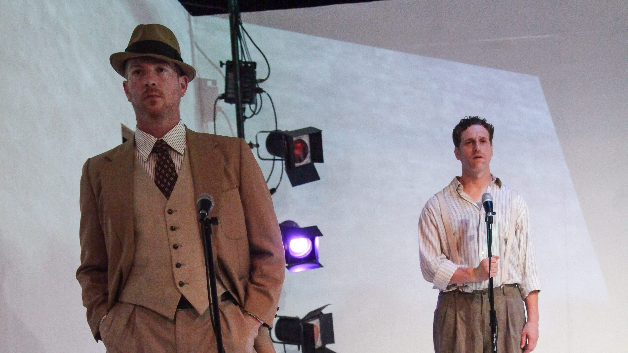 "James Heffron and Andrew Kottler star in Torn Space Theater's production of ""Detour."""