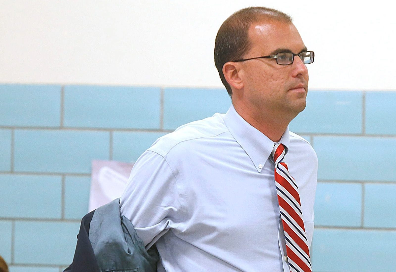 A source inside the Hamburg School District said Superintendent Richard E. Jetter was not in the district office Tuesday.
