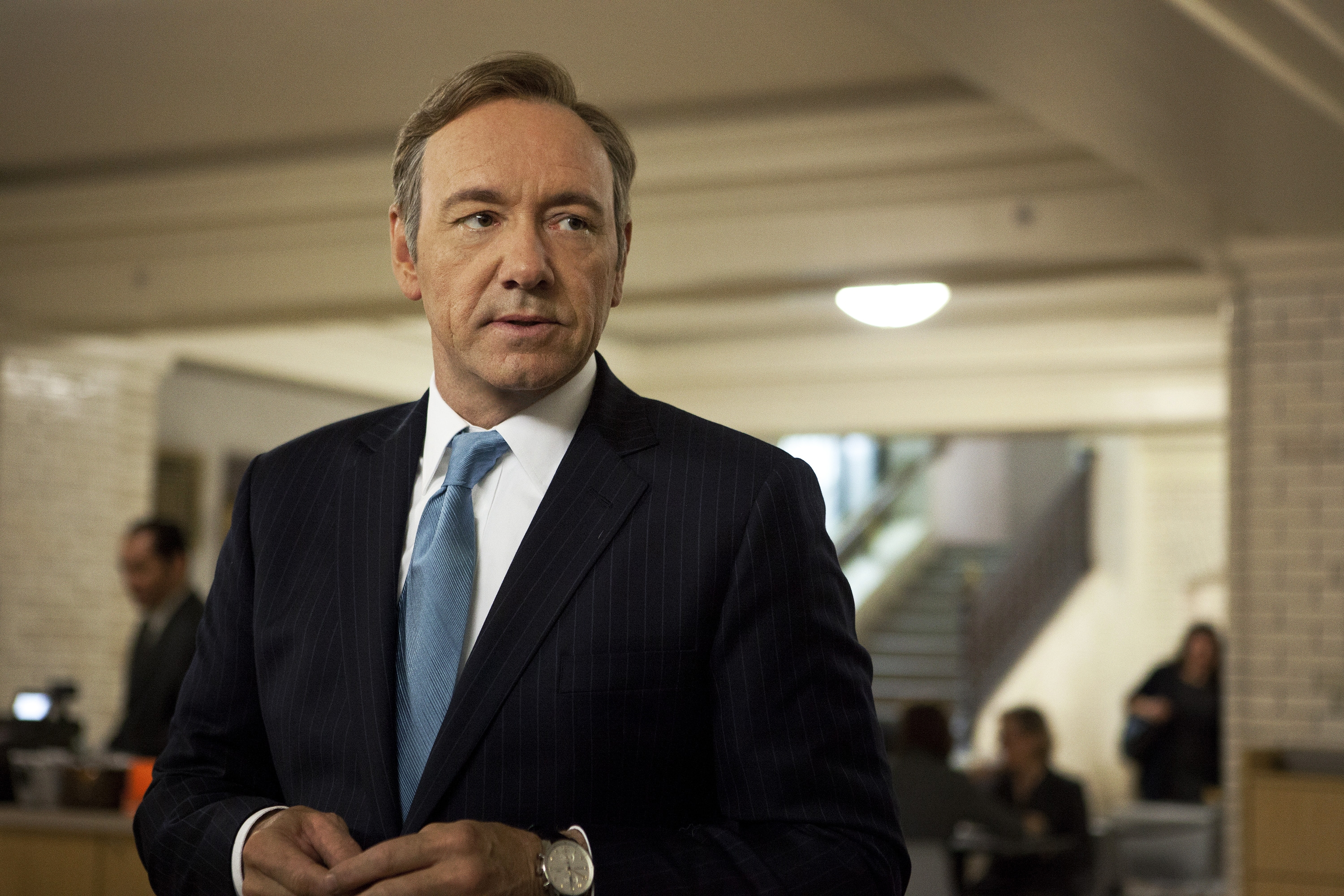 """Kevin Spacey is nominated for the Emmy for outstanding lead actor in a drama for his role as Rep. Frank Underwood in the Netflix series, """"House of Cards."""" Netflix has 31 Emmy nominations this year."""