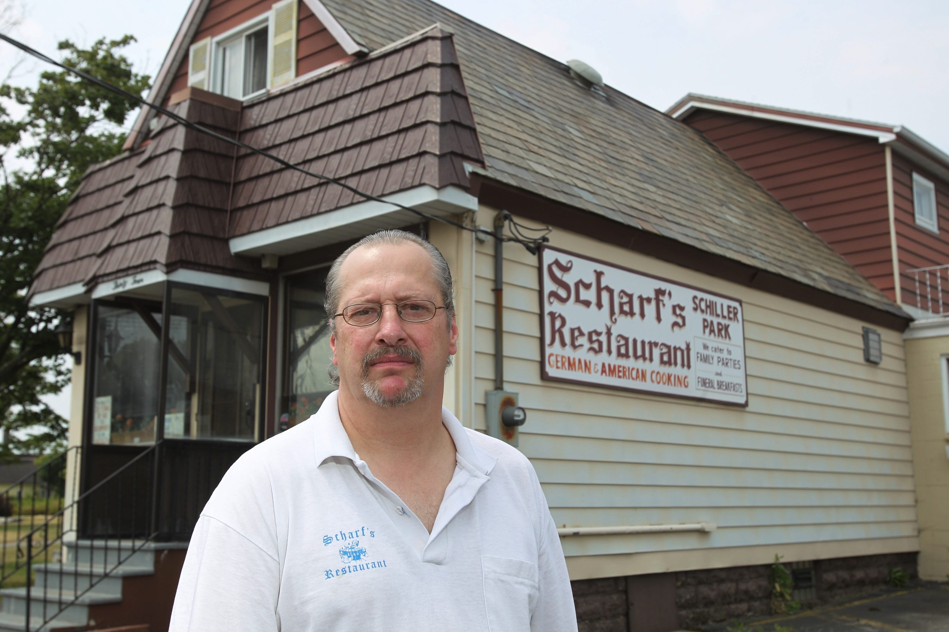 Jerry Scharf, owner of Scharf's Restaurant, has moved the business from its longtime location on  Crossman St. (above), to a site on Clinton Street in West Seneca.  {Sharon Cantillon / Buffalo News}