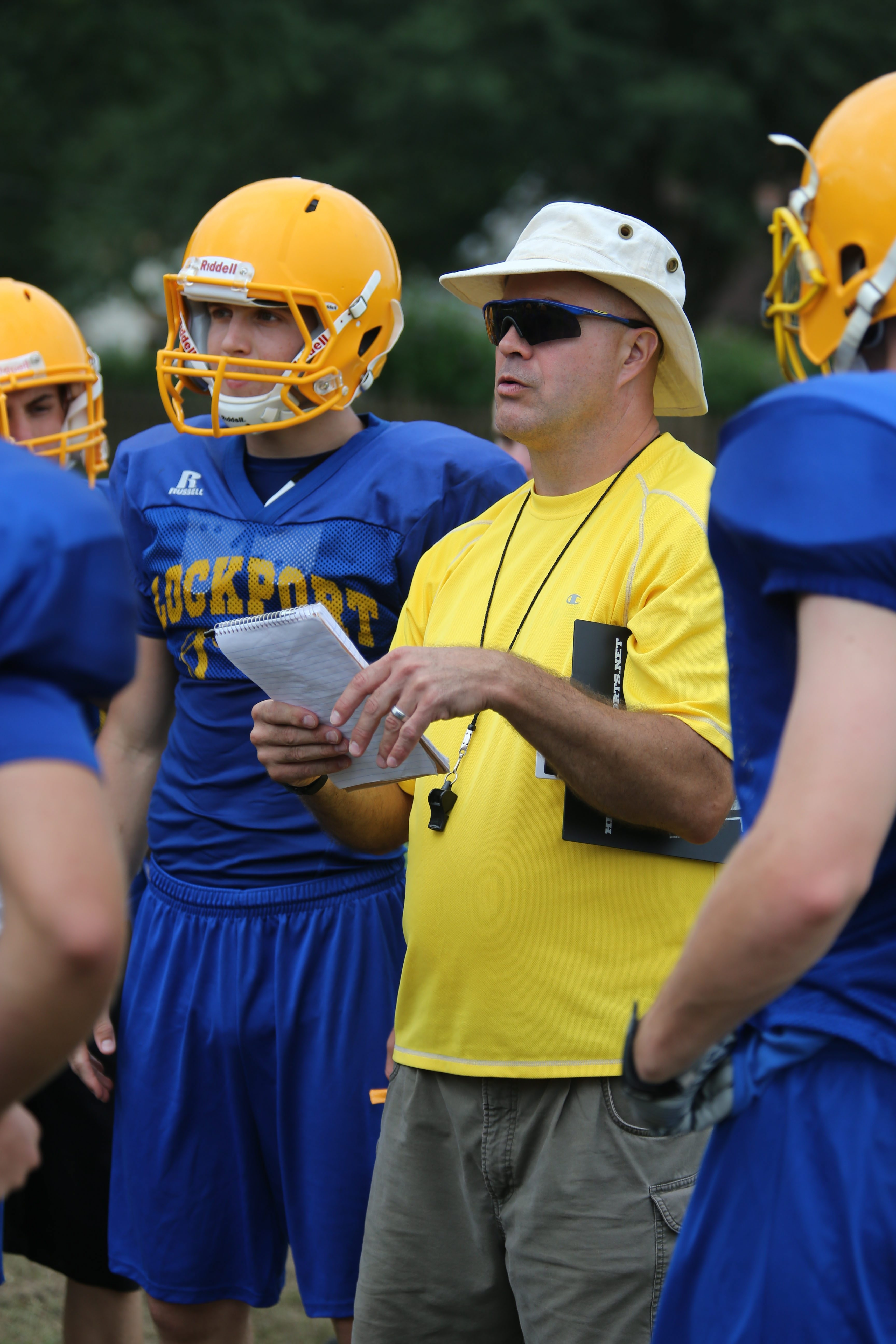 Coach Greg Bronson and his Lockport Lions are thrilled to open at Ralph Wilson Stadium.