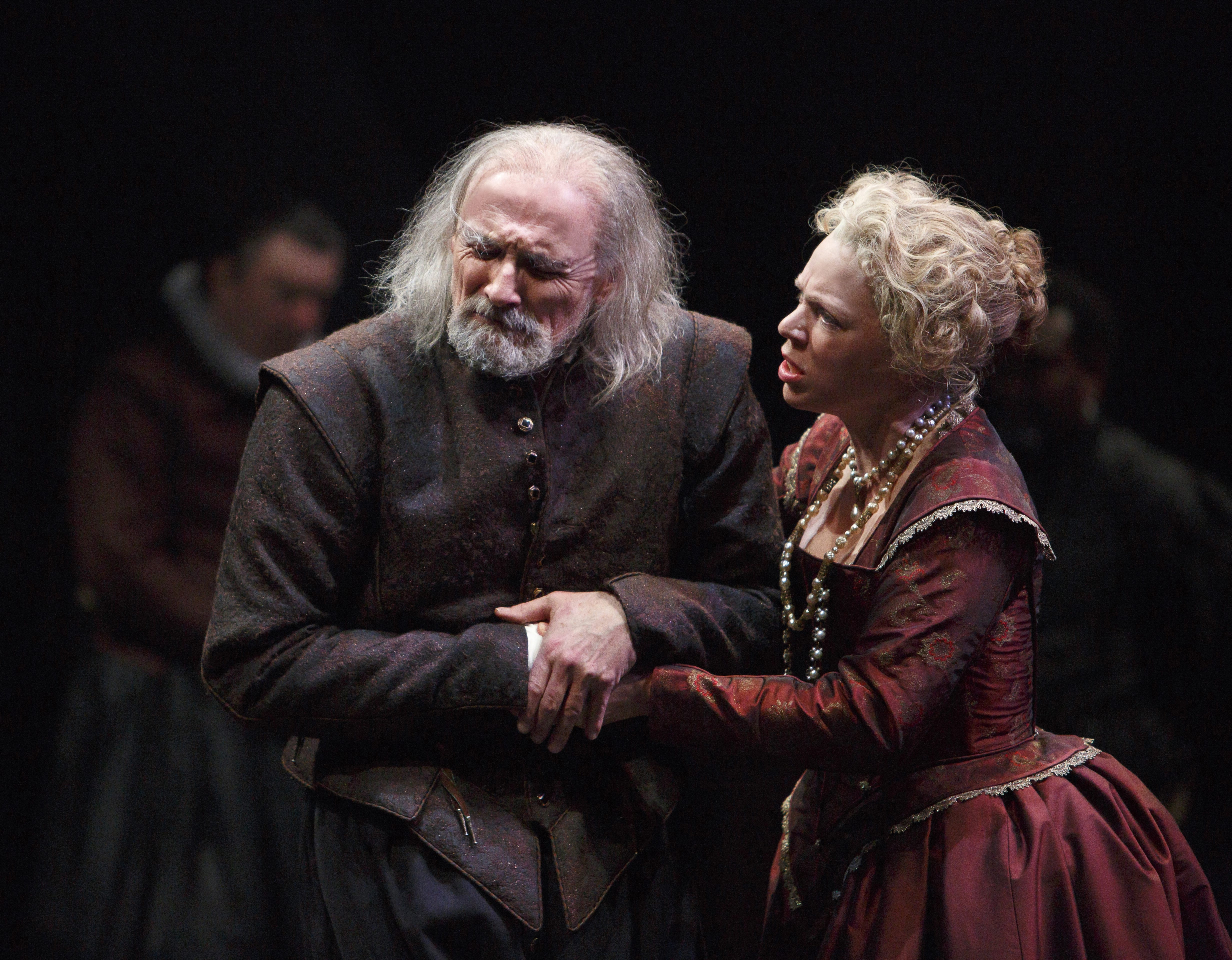 "Colm Feore is King Lear, and Liisa Repo-Martell is Regan in ""King Lear."""