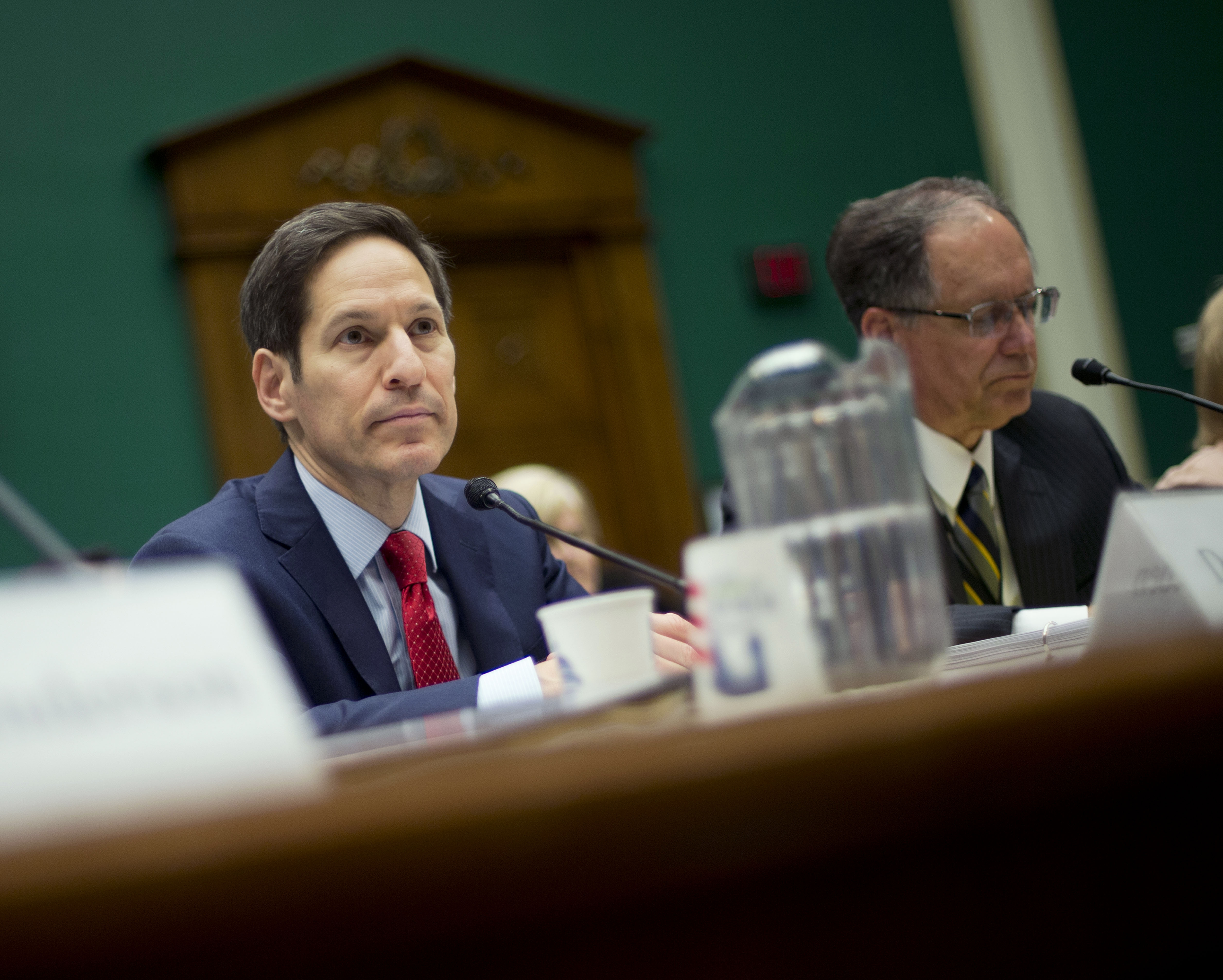 Dr. Thomas Frieden, head of the Centers for Disease Control and Prevention, told Congress the agency is committed to improving safety measures. (AP photo)