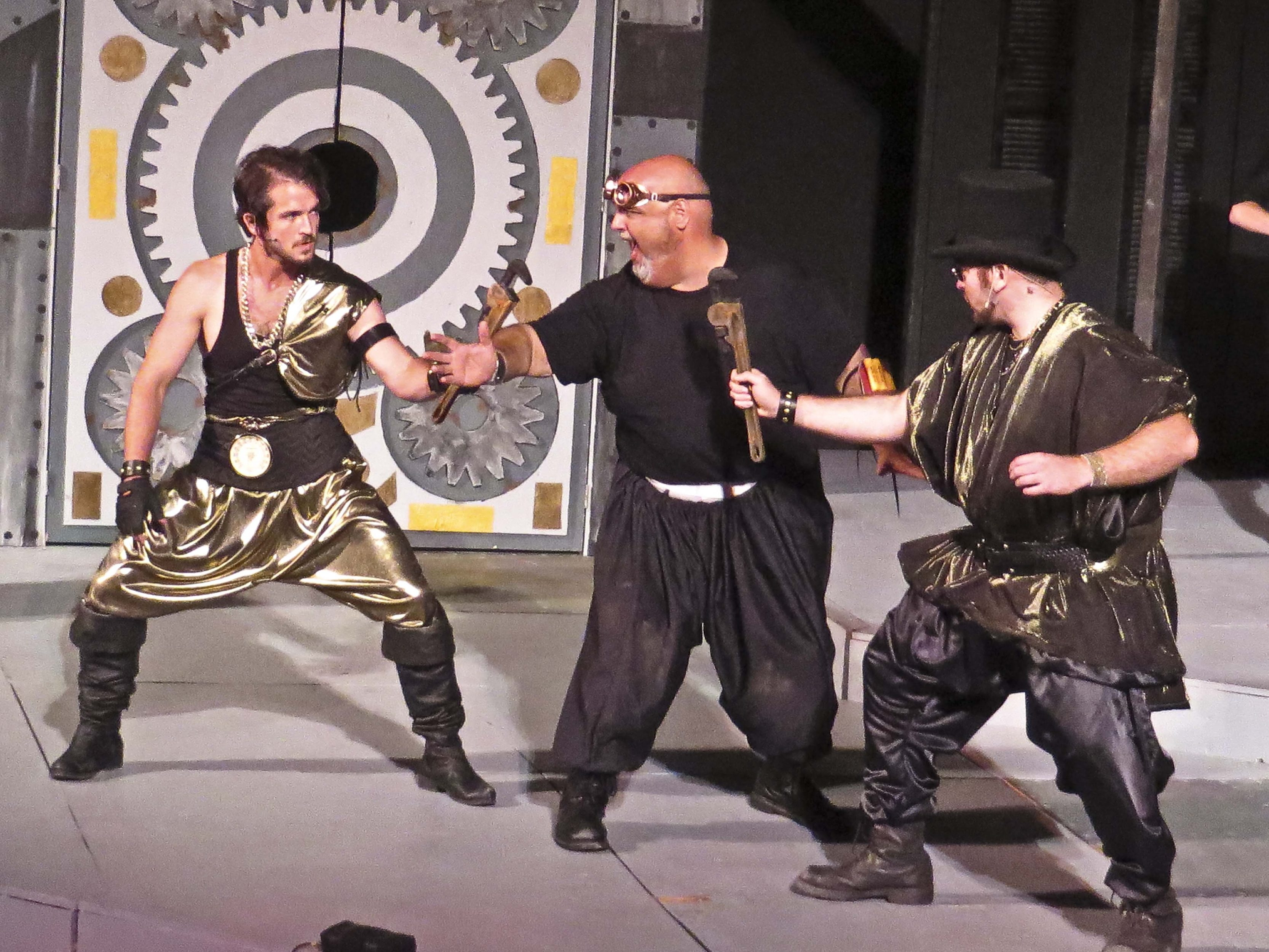 """Nathan Winkelstein, Norman Sham and Billy Horn star in Shakespeare in Delaware Park's production of """"The Comedy of Errors."""""""