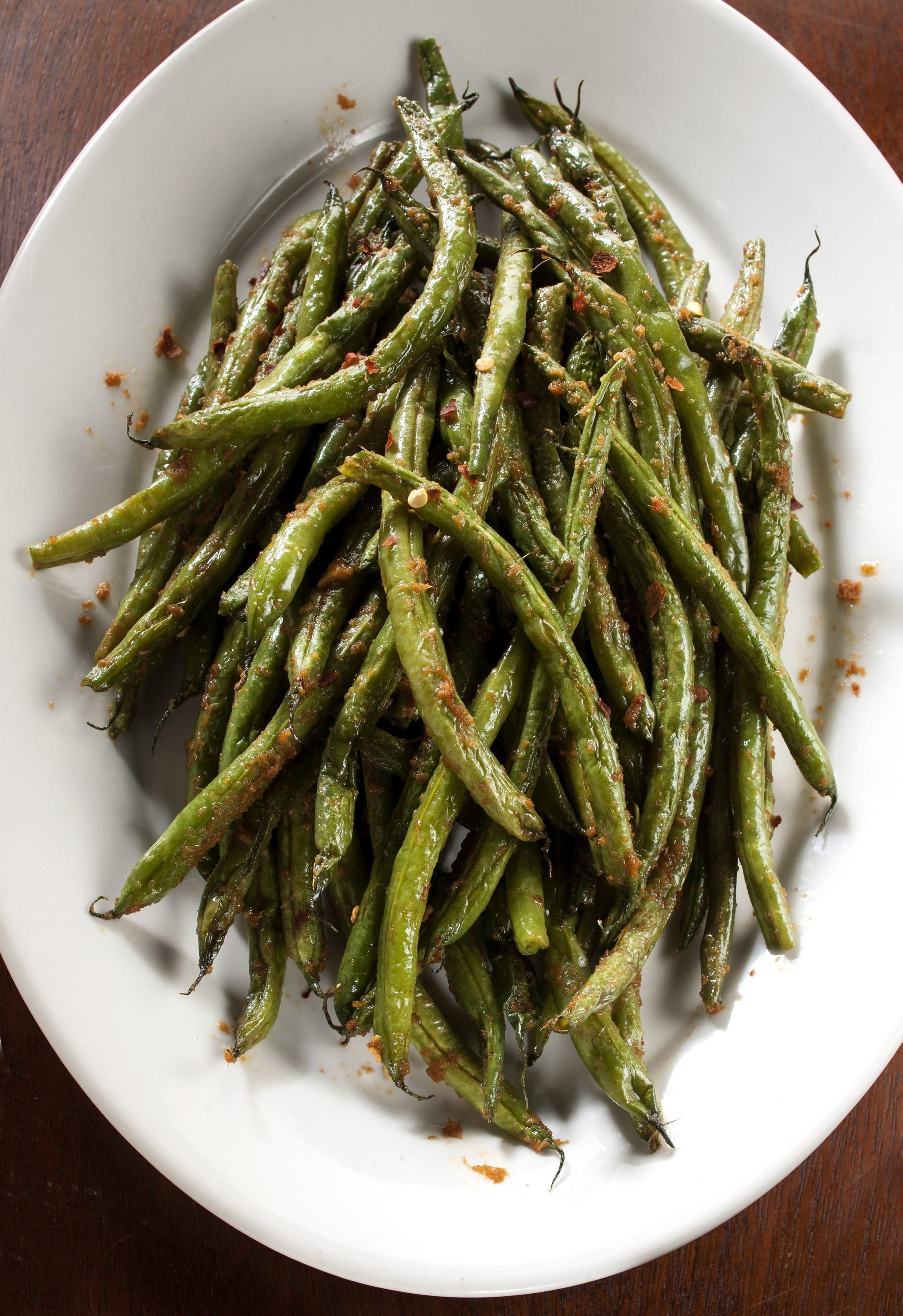 Give green beans intense flavor with a spike of chili paste and sesame oil.