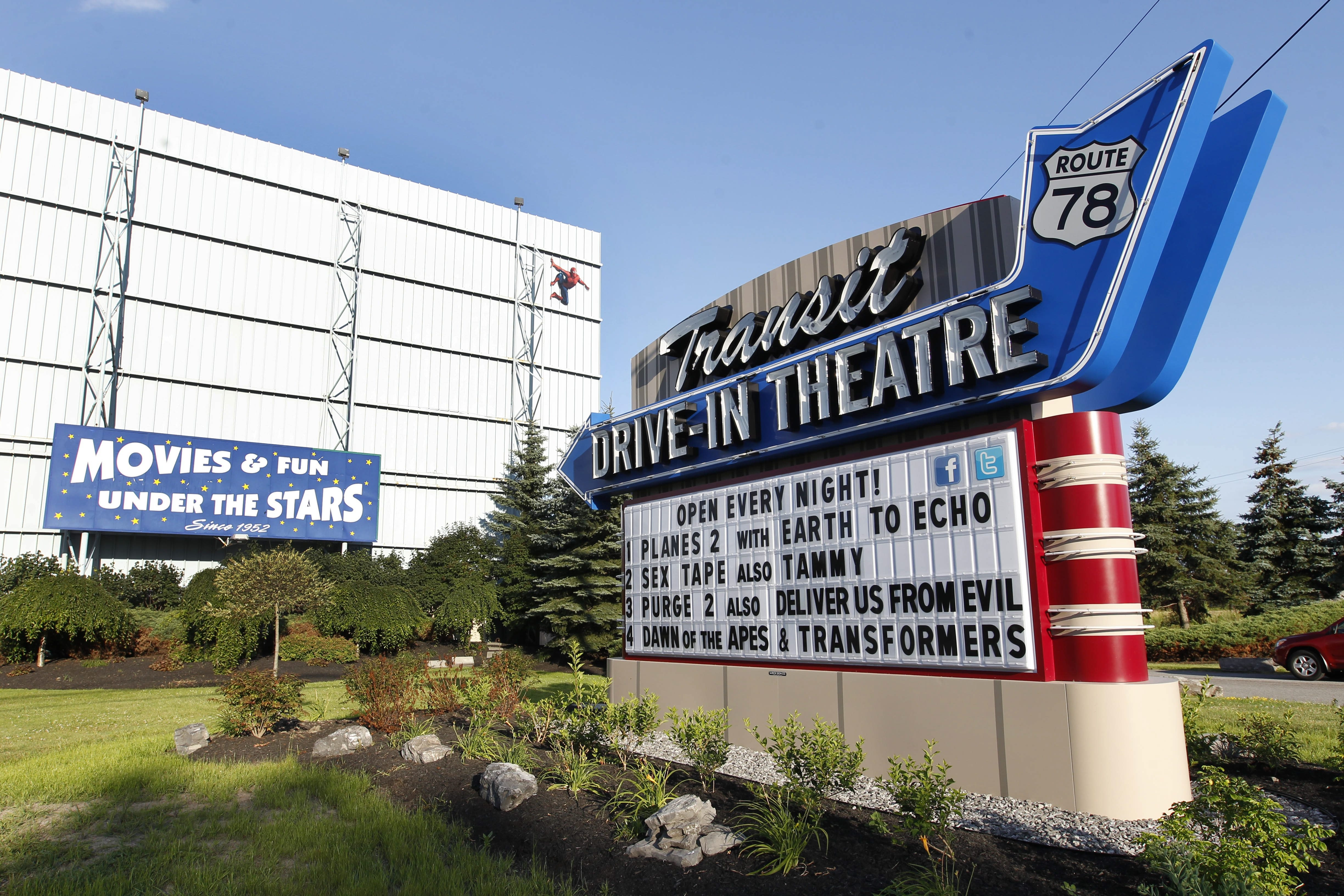 The Transit Drive-In Theatre, Thursday, July 17, 2014.   (Sharon Cantillon/Buffalo News)