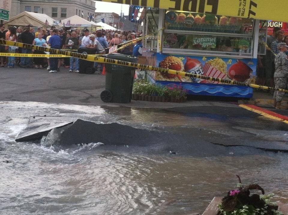 The water main break in the City of Tonawanda.