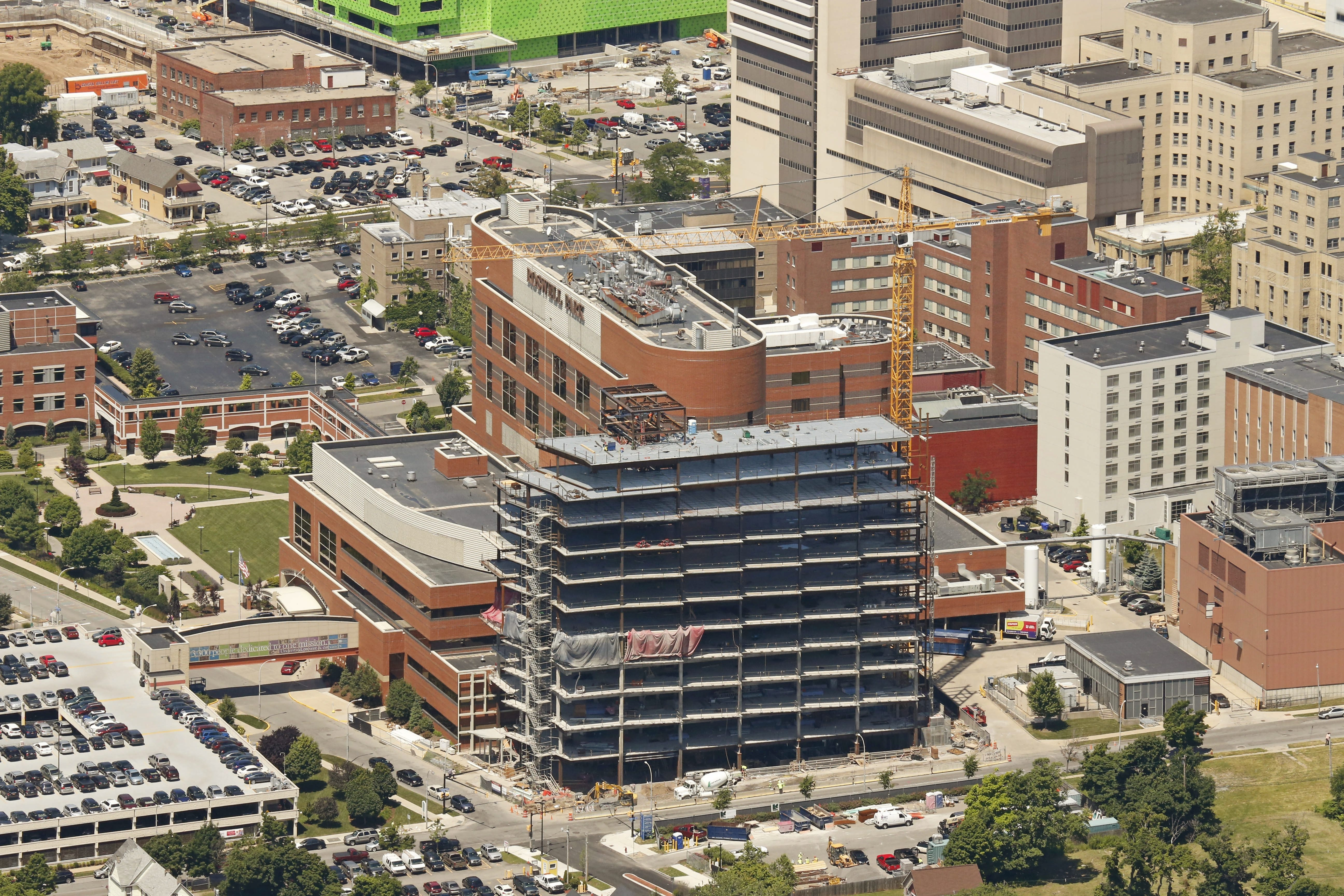 The construction now under way on Roswell Park Cancer Institute's Clinical Sciences Center is tangible evidence of Dr. Donald L. Trump's leadership.