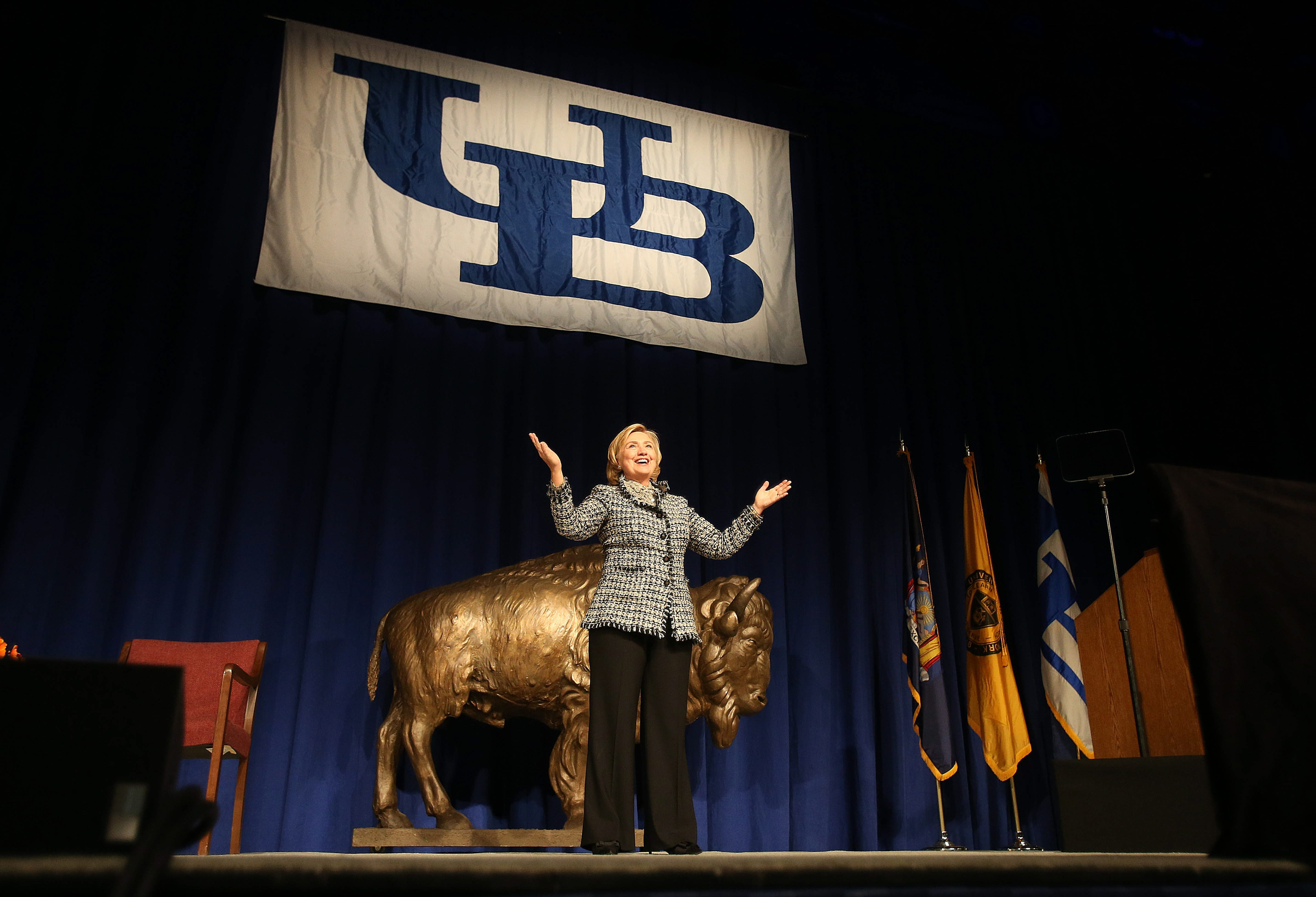 Hillary Clinton spoke at UB on Oct. 23, 2013.