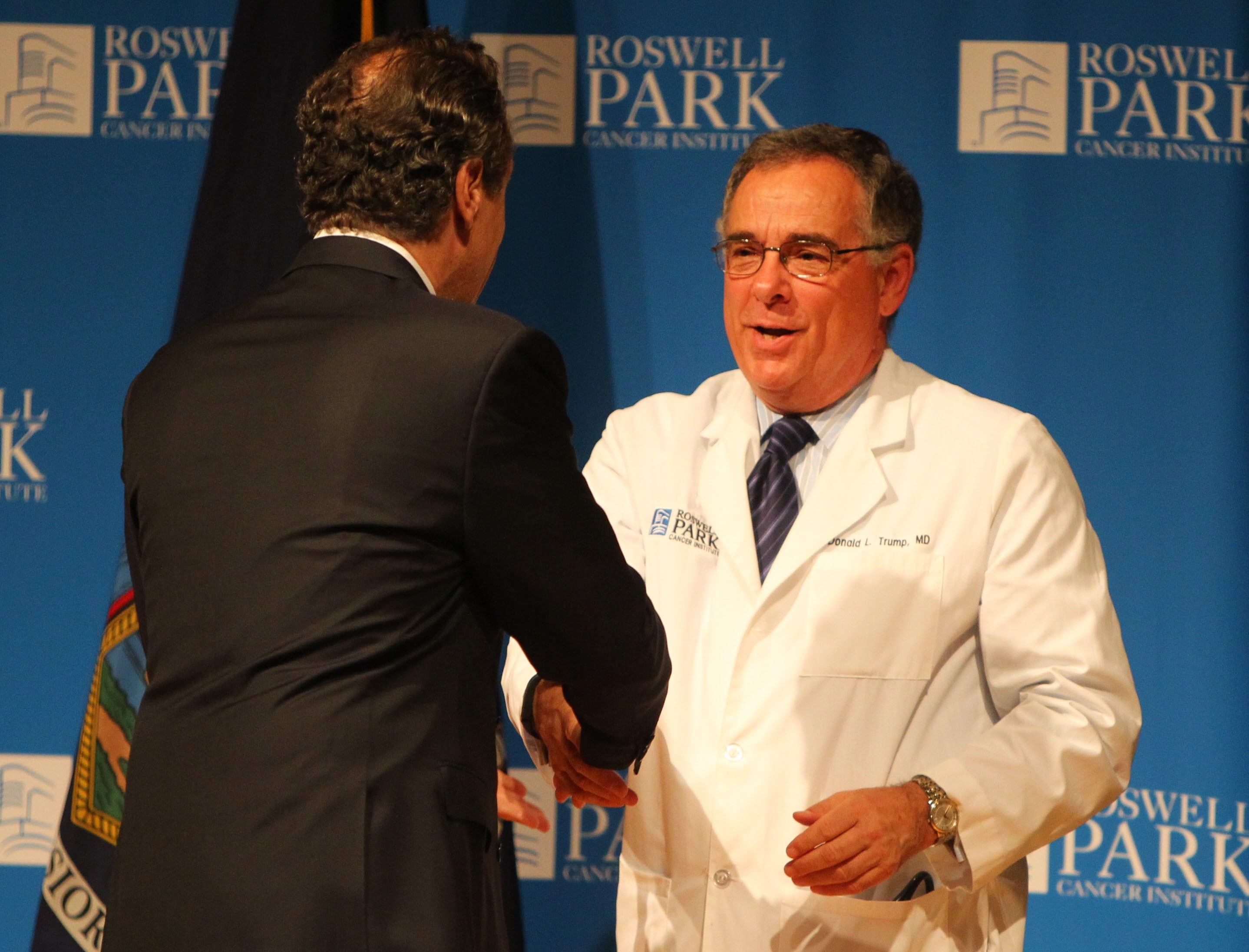 Roswell Park's President and CEO Dr. Donald Trump was lauded for leading several initiatives.
