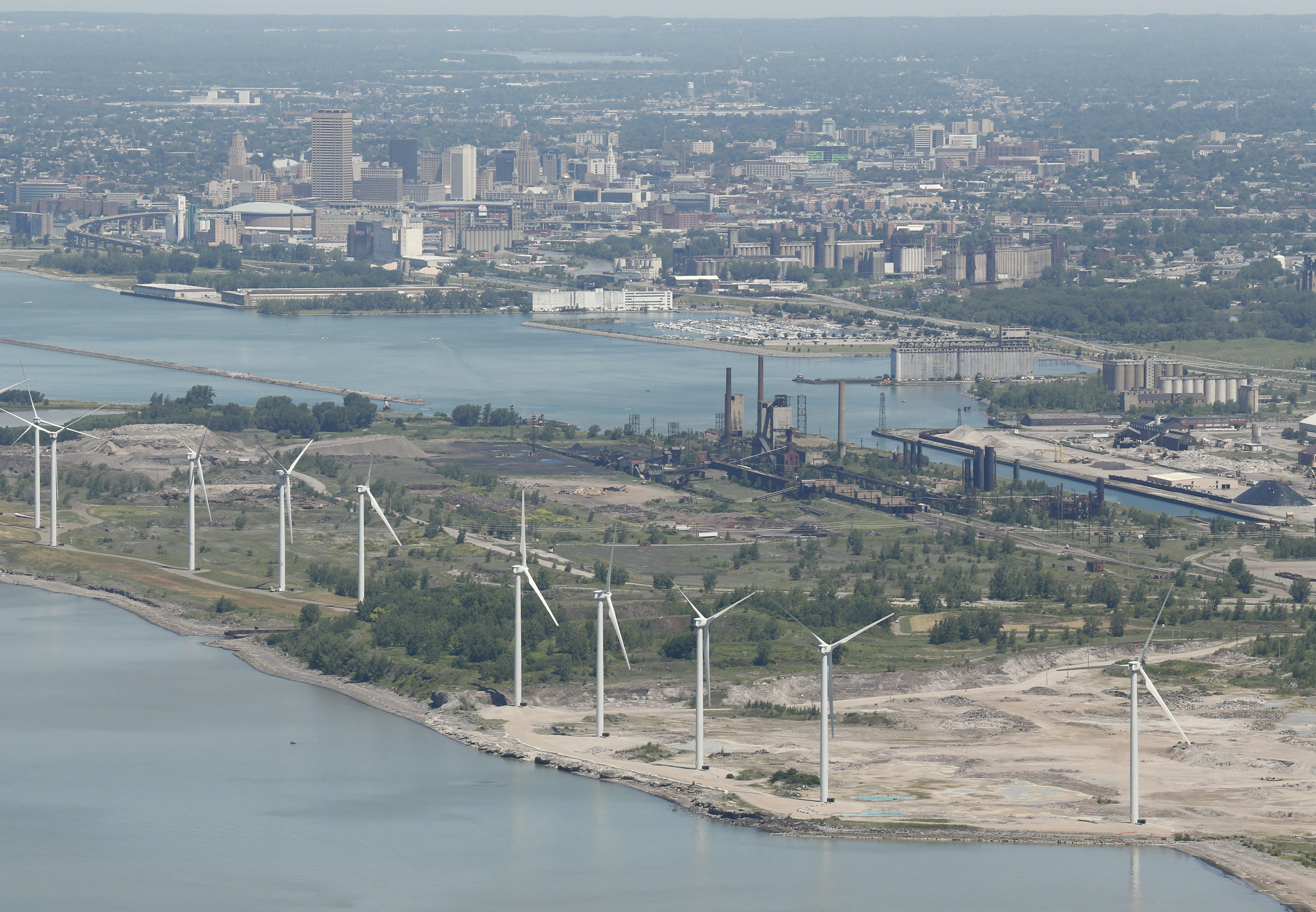 Installation of solar panels is expected to begin this fall at the Steel Winds wind farm on the former Bethlehem Steel site.