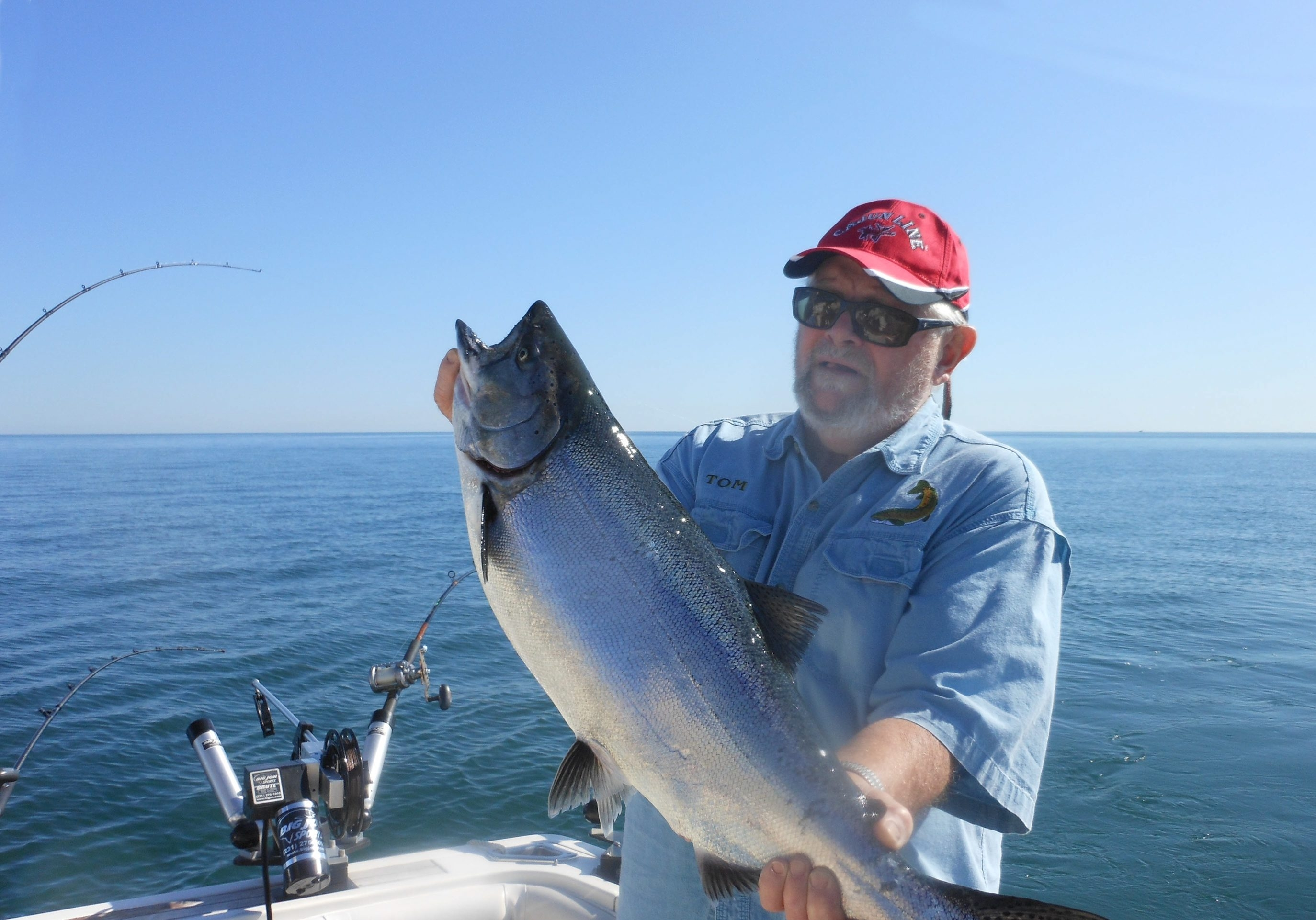 Tom Danaher took the top salmon on a Lake Ontario trolling run out of Olcott Harbor this past week.
