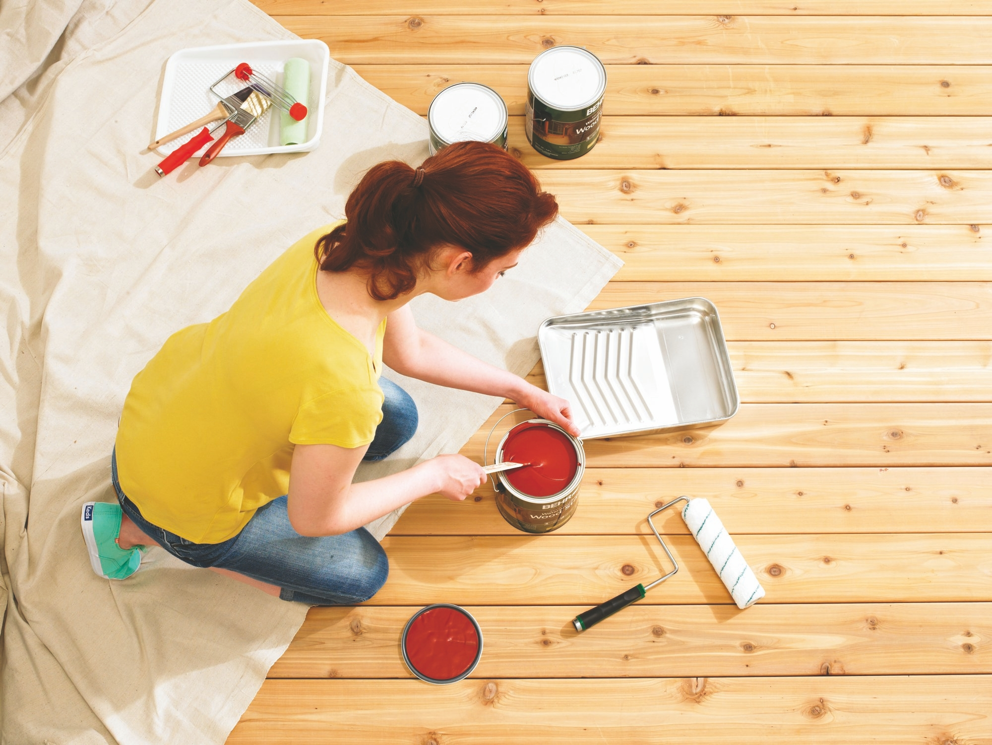 Shopping for deck paints and stains on holiday weekends can save you 30 percent or more.