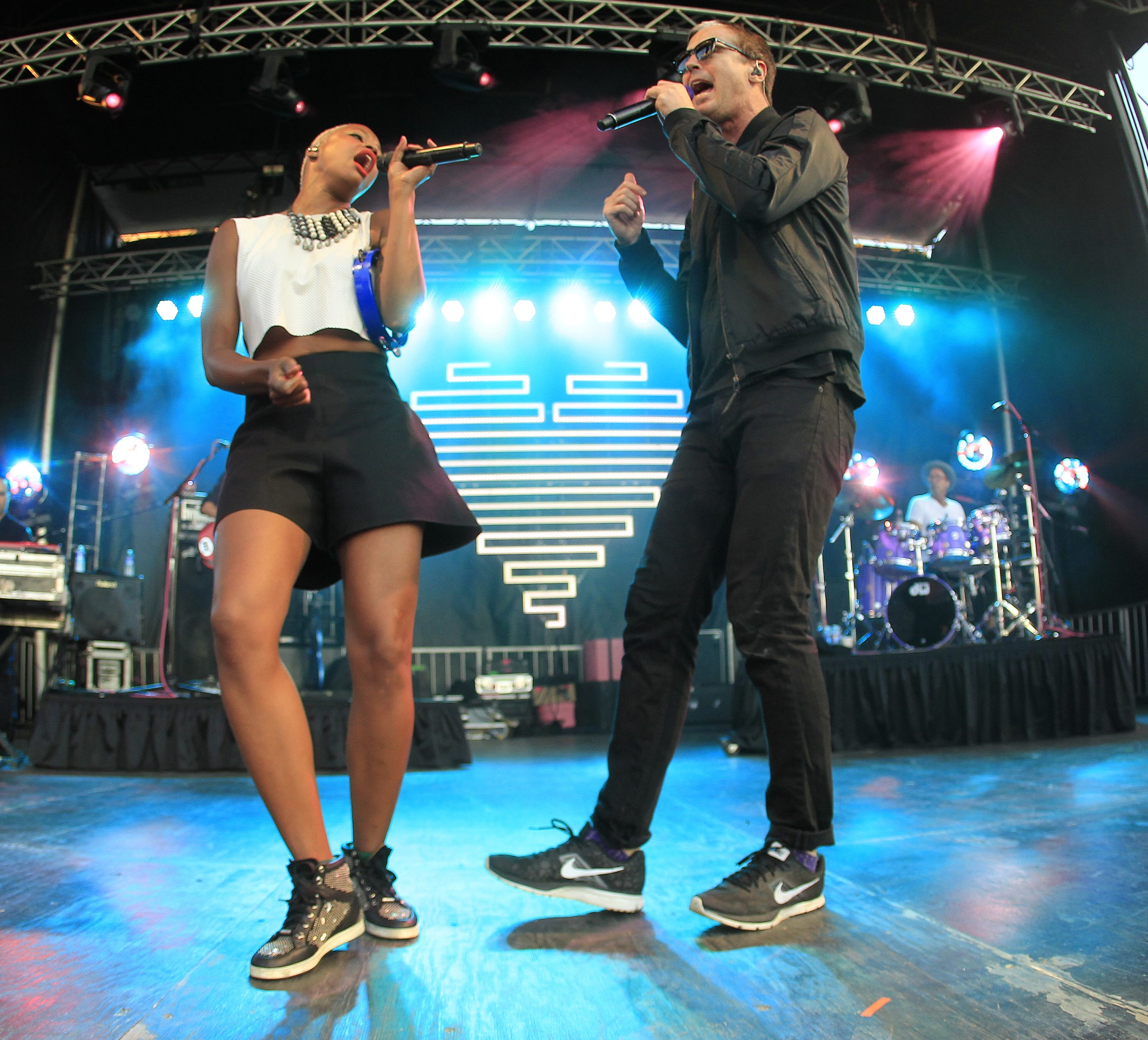 Fitz and the Tantrums had the crowd dancing during their performance Thursday evening at Canalside.