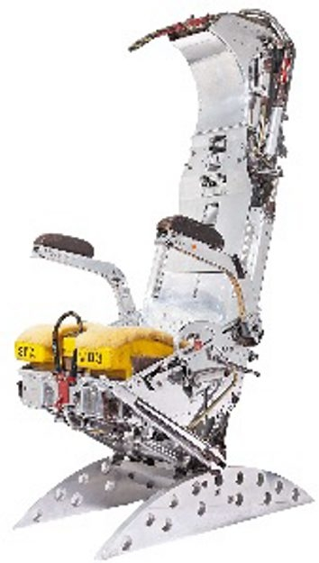 An airplane ejection seat is not often offered for sale, and the auction estimate for this chair was $11,000. No one bid high enough for the seat to sell.