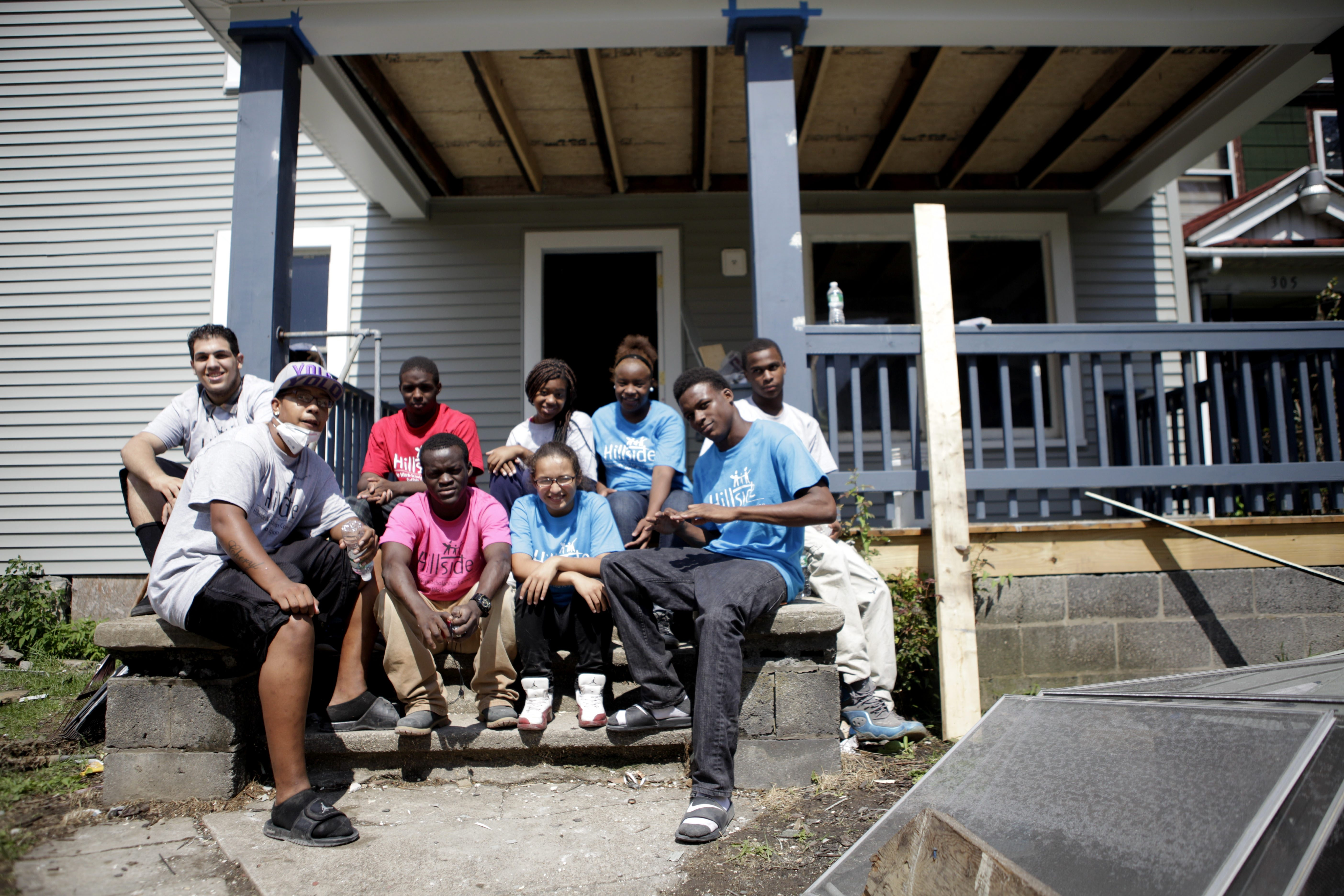 Students in the Hillside Connection program at Bennett High School helped renovate a house on 14th Street last summer. (Buffalo News file photo)