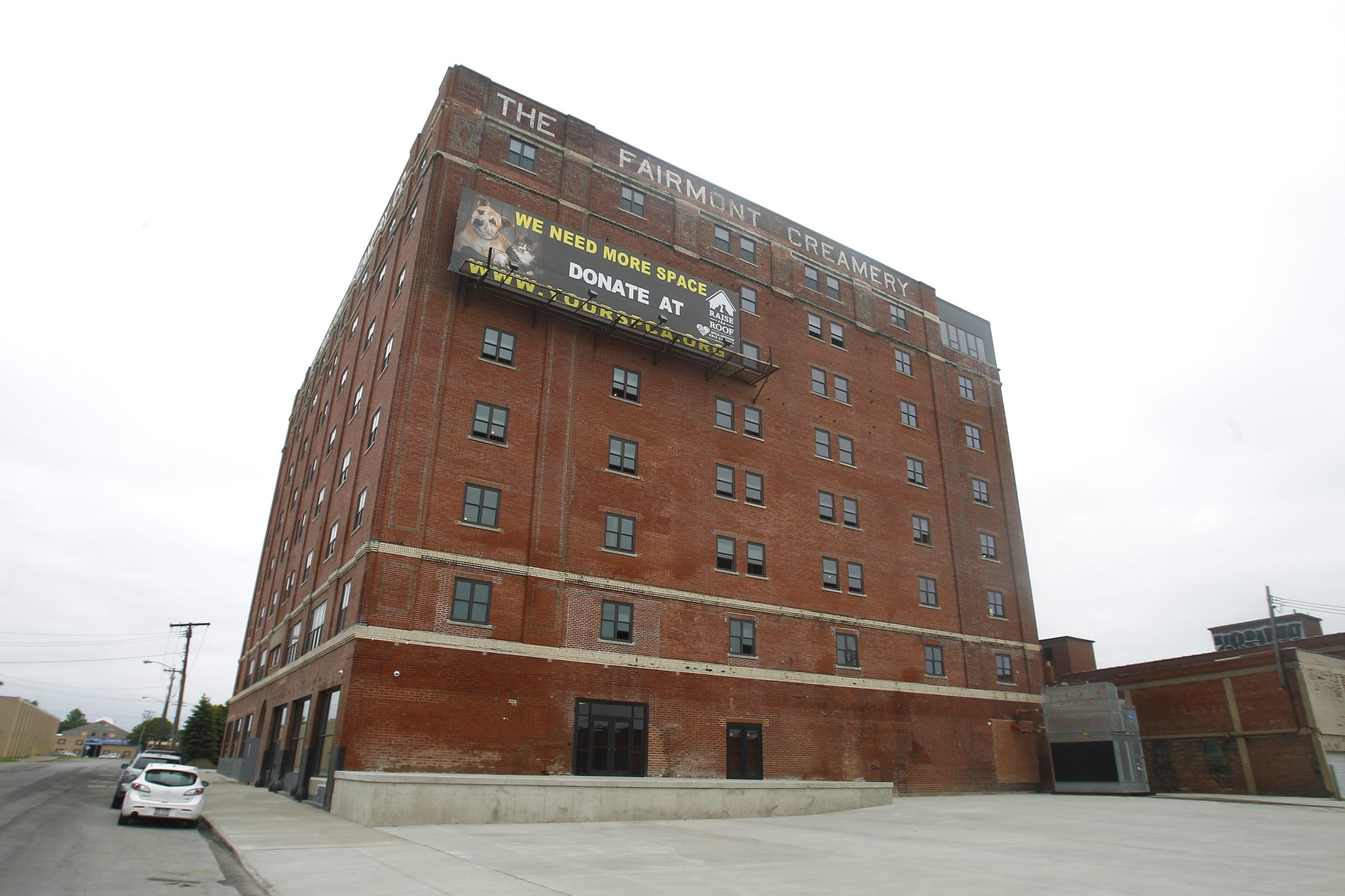 Exterior of the Fairmont Creamery renewed as apartment  building (the old Rich Products creamery) on Wednesday, June 18, 2014.  (John Hickey/Buffalo News)