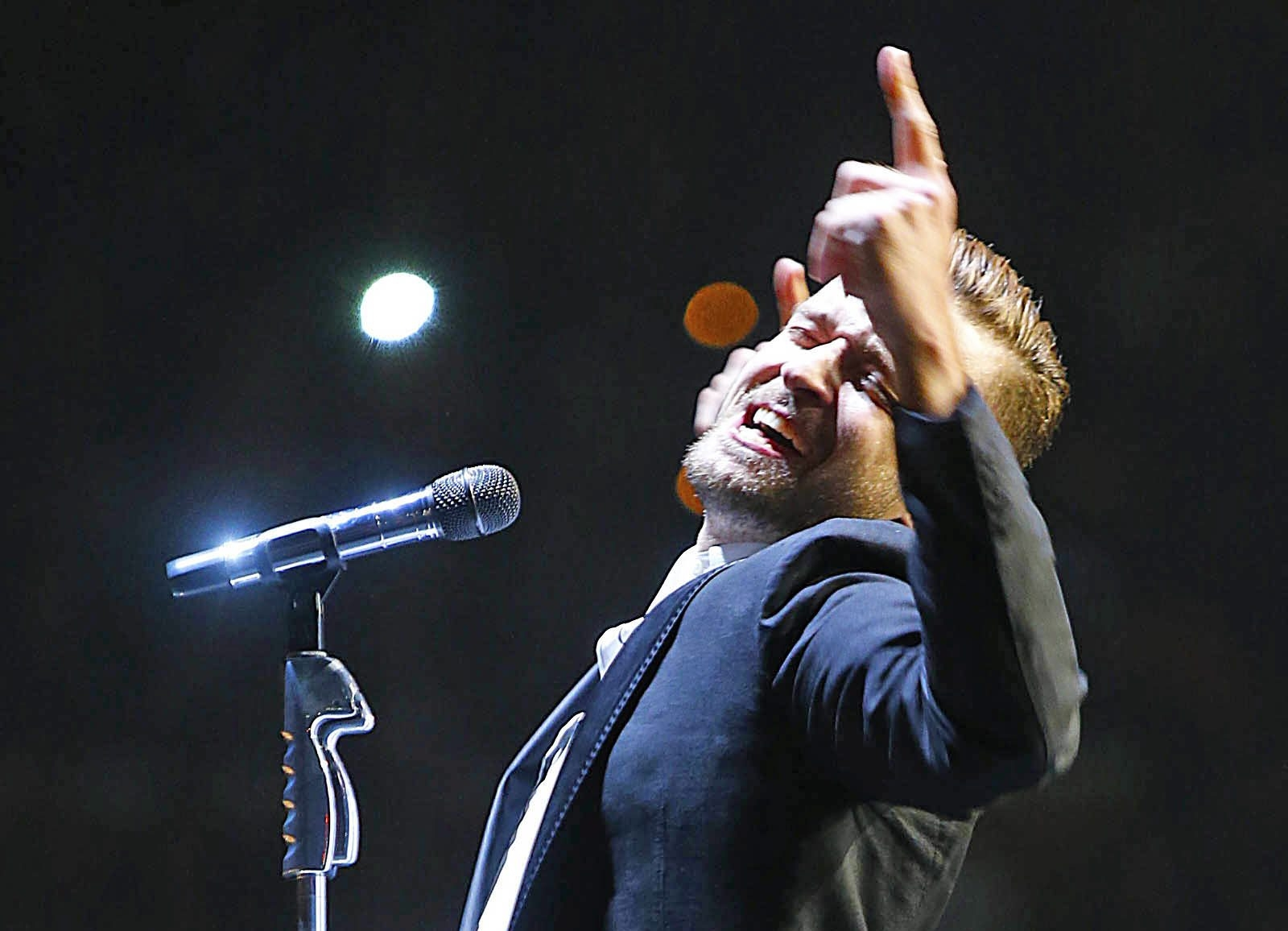 Justin Timberlake performs during a big, bold and musically substantive concert at First Niagara Center on Wednesday.