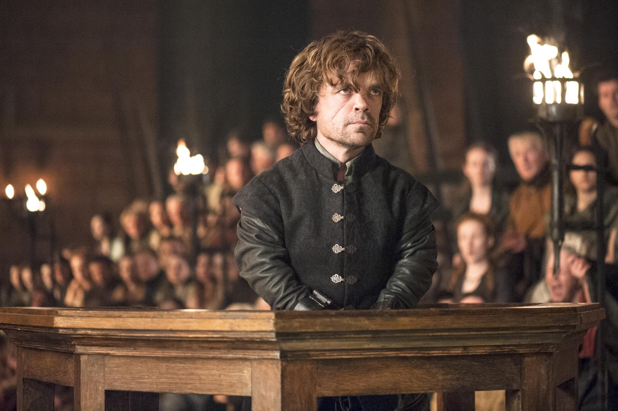 "Peter Dinklage in a scene from ""Game of Thrones,"" which earned a Primetime Emmy nomination for best drama series."