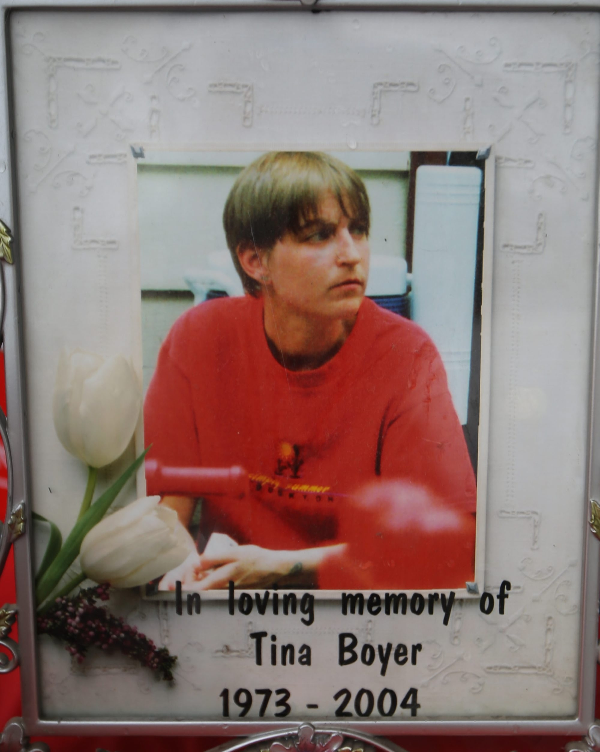 Tina Marie Boyer's portrait is one of the inspirations for those keeping her memory alive after murder in 2004.