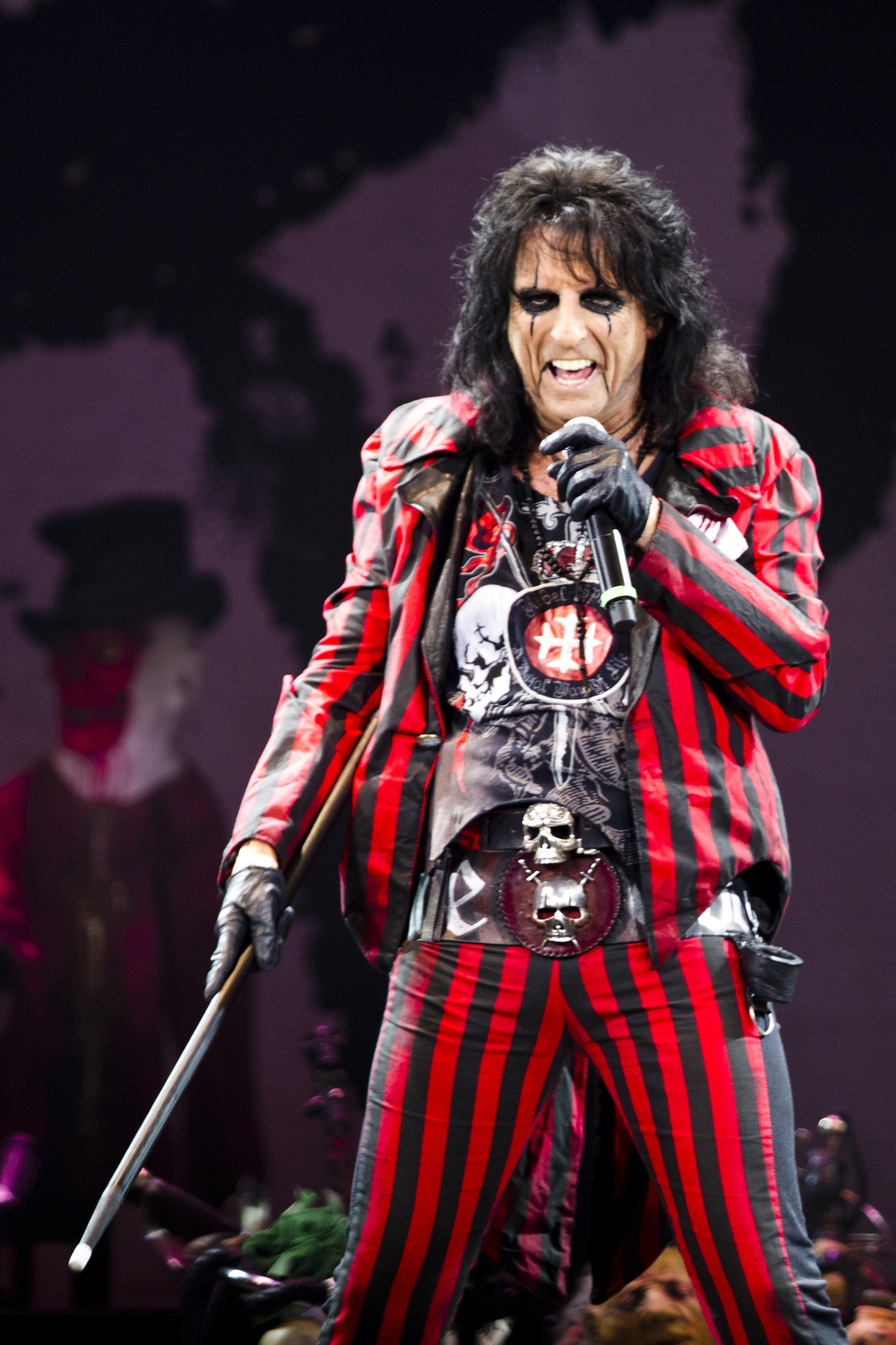 Alice Cooper was in Columbus, Ohio, on Monday to be inducted into the White Castle Craver Hall of Fame.