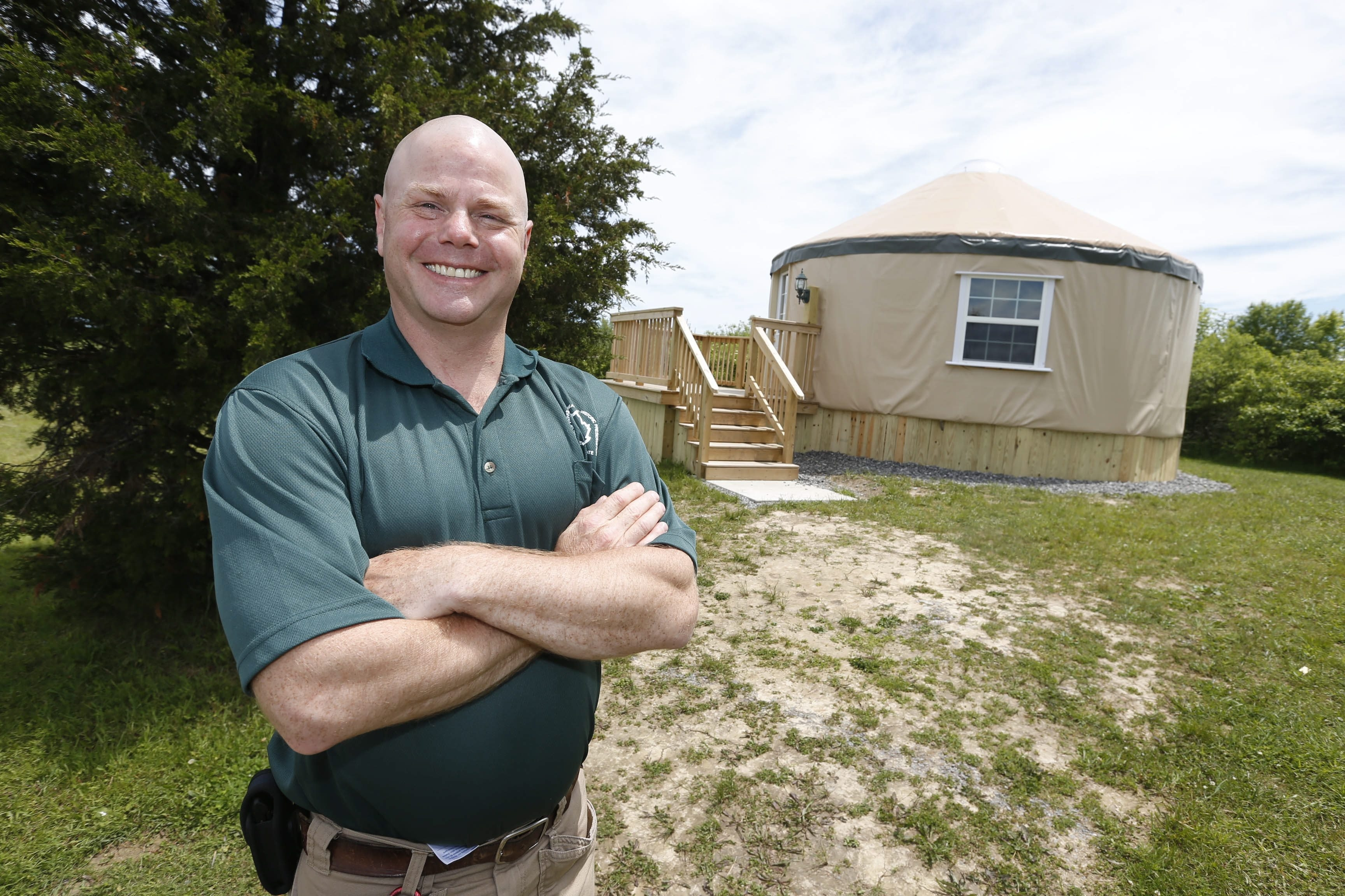 Golden Hills State Park manager Eric Hoppe says he inherited a facility that is in good shape. One of the new touches is a yurt.