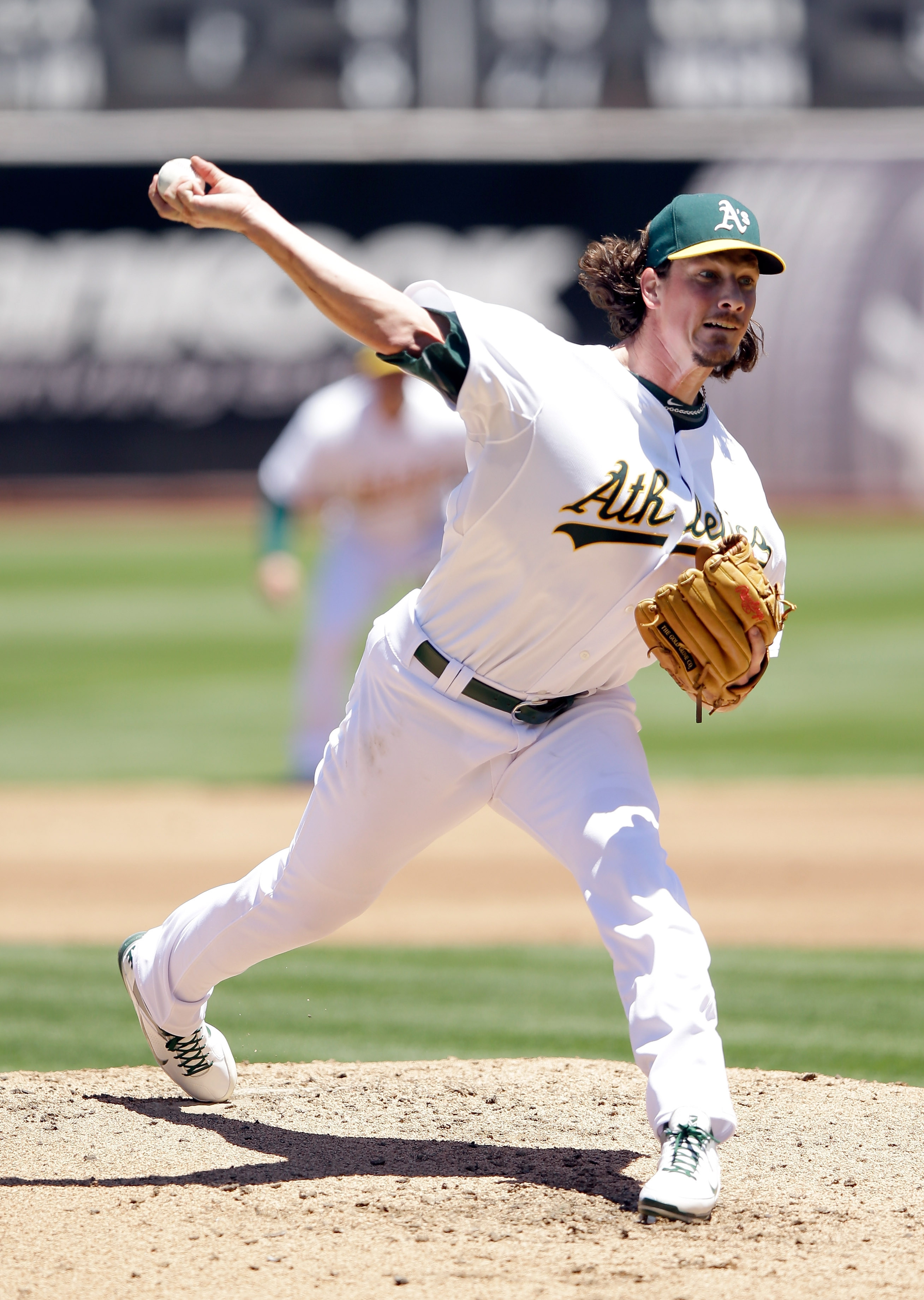 In his debut for Oakland on Sunday, Jeff Samardzija allowed one run in seven innings for a 4-2 victory over Toronto. Samardzija, traded from the Chicago Cubs, was voted to the All-Star Game from the National League.