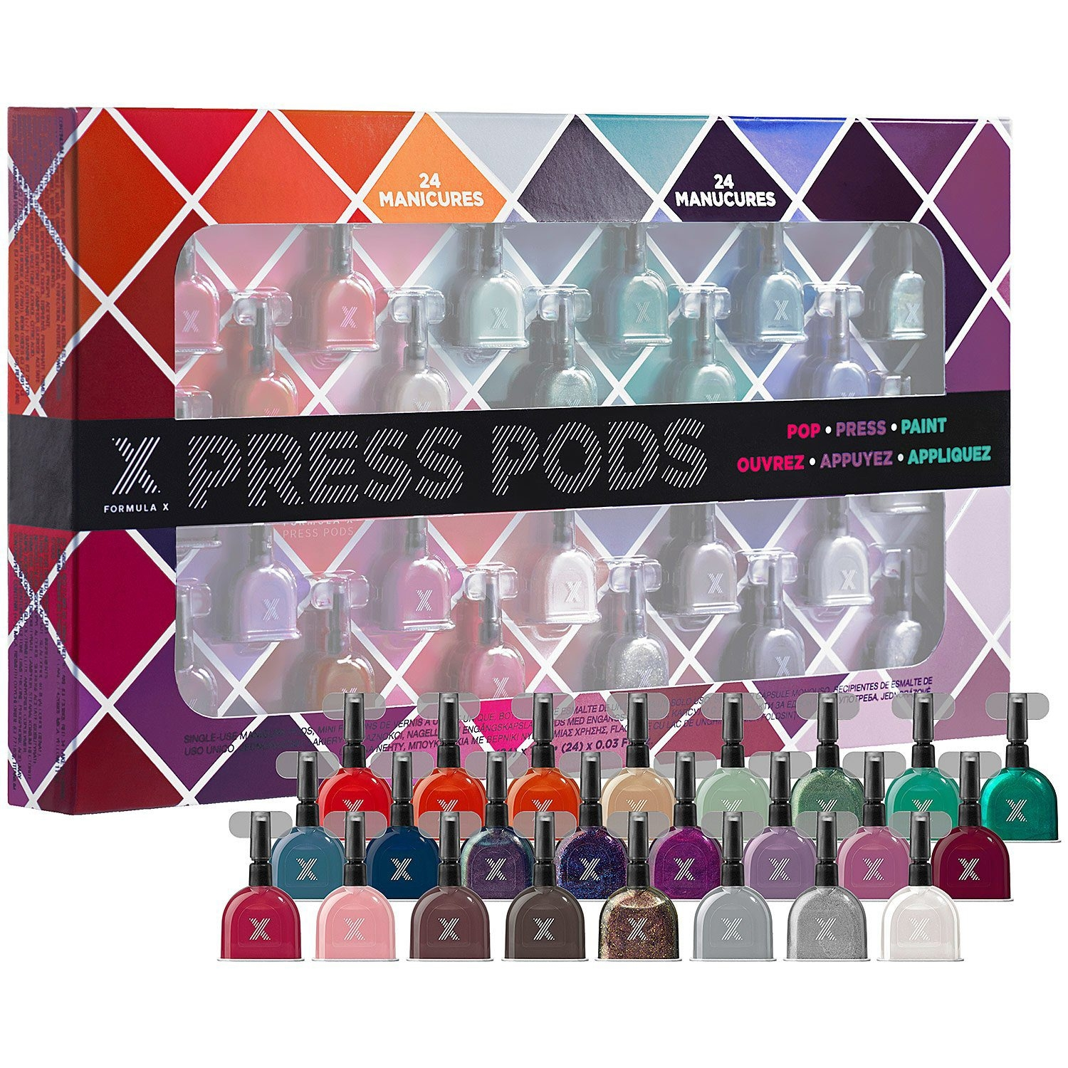 Pack light with single-use nail polish Press Pods by FORMULA X ($39 for a multi-color 24-pack at Sephora). (Sephora/MCT)