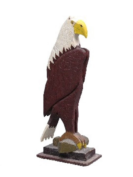 Sometimes you get a bargain at an auction. This carved wooden eagle sold in March 2014 for $47 at auction in Copake.