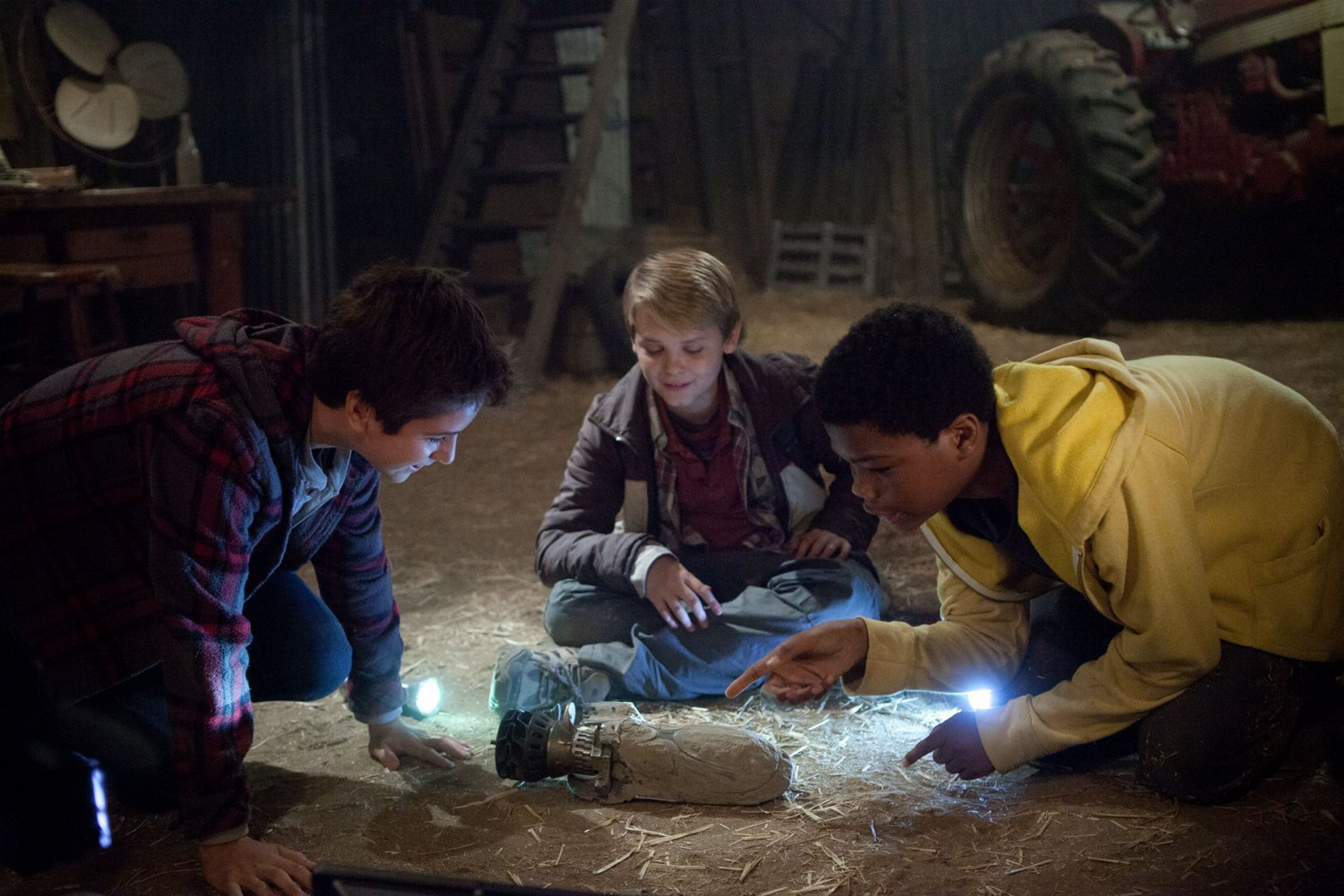 """From left, Reese Hartwig, Brian Astro Bradley and Teo Halm star in """"Earth to Echo."""""""