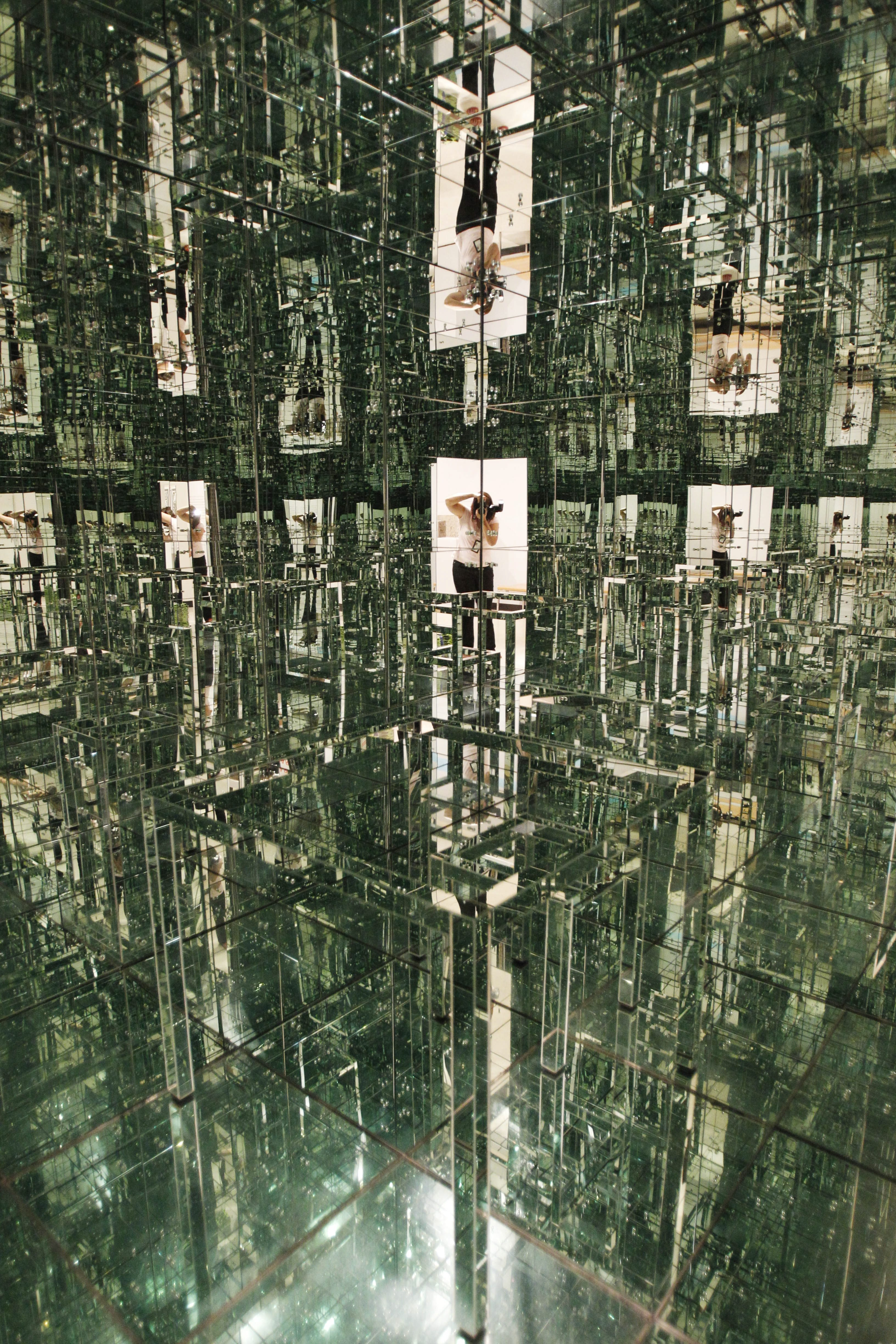"""""""Room No. 2"""" by Lucas Samaras, known as the """"Mirrored Room,"""" is back on display in the Albright-Knox Art Gallery. (Sharon Cantillon/Buffalo News)"""