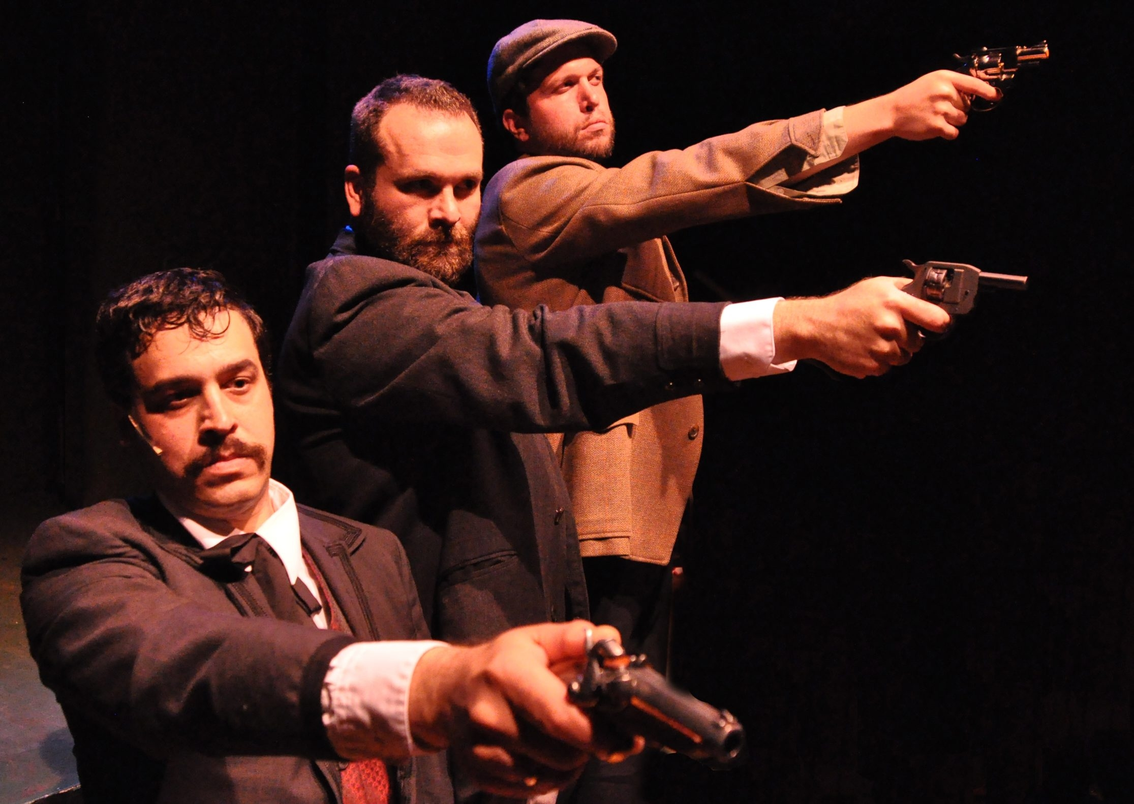 "Second Generation Theatre has put on a chilling ""Assassins,"" starring Philip Farugia (as Charles Guiteau), Steve Copps (as Leon Czolgosz) and Ben Puglisi (as John Wilkes Booth)."