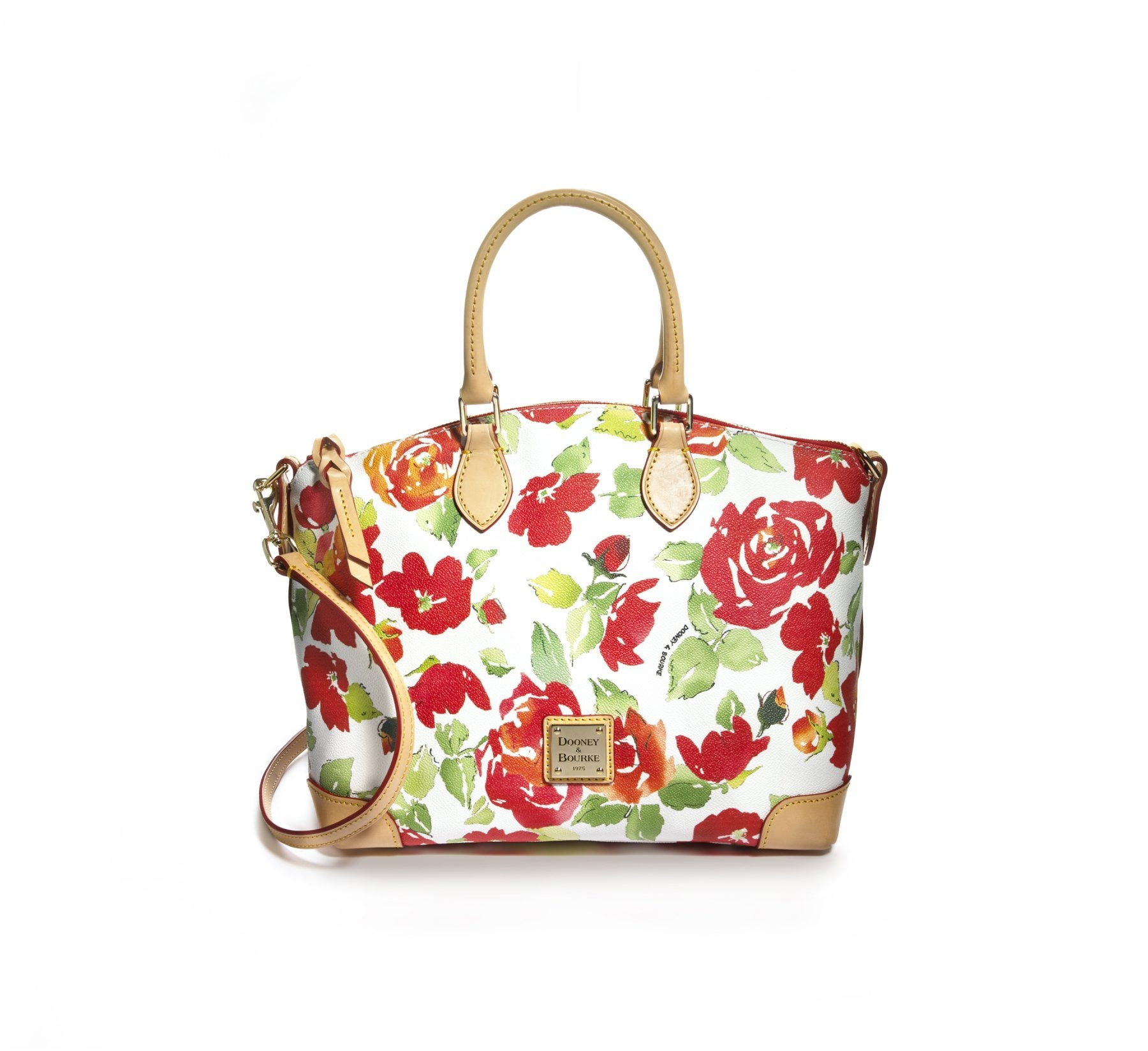A little floral touch will add an elegant look to an outfit. Dooney & Bourke Satchel ($218, macys.com). (Macy's/MCT)