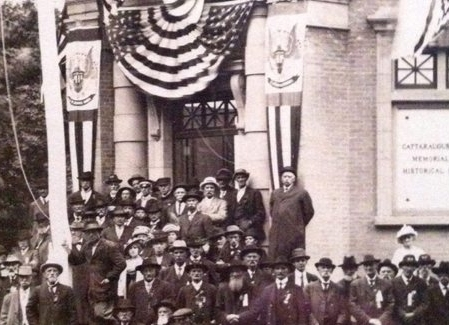 Engage in a Civil War Event Series in Machias. This picture is from Cattaraugus County Memorial and History Museum of the area's Civil War veterans. This image was taken in September 1913. (Detail from private collection of Mark Dunkleman, noted authority of the 154th New York Volunteer Infantry).