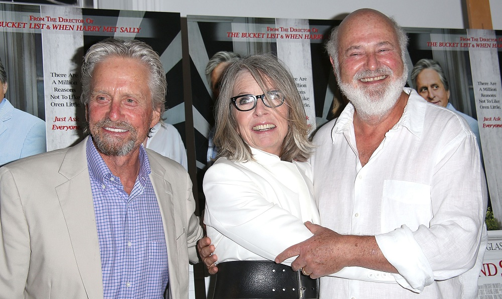 "Michael Douglas (left) and Diane Keaton (center) suffer from the direction of Rob Reiner (right) in ""And So It Goes,"" Jeff Simon says. (Photo by Sonia Moskowitz/Getty Images)"