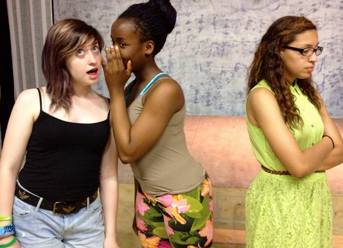 "Isabelle Trump, Elizabeth Camara and Victoria Medley appear in a student production of ""The Secret Life of Girls"" in the Subversive Theatre Collective's Manny Fried Playhouse."