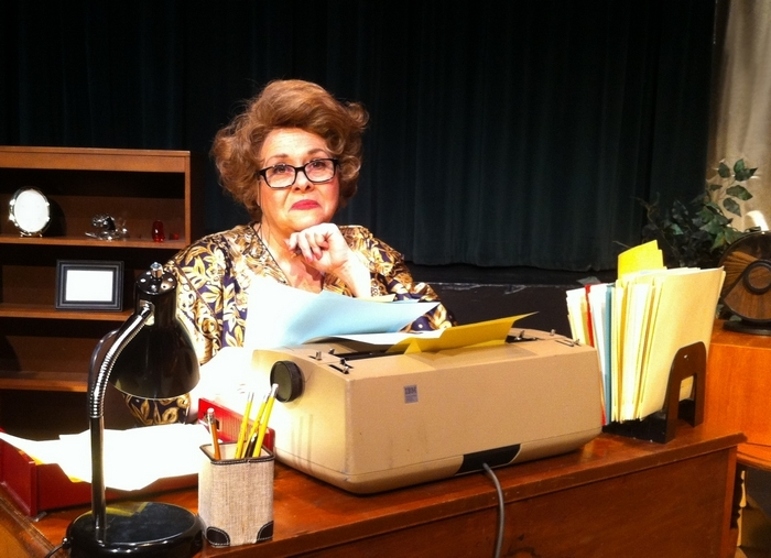 "Mary Kate O'Connell stars in ""The Lady With All the Answers"" at O'Connell and Company."