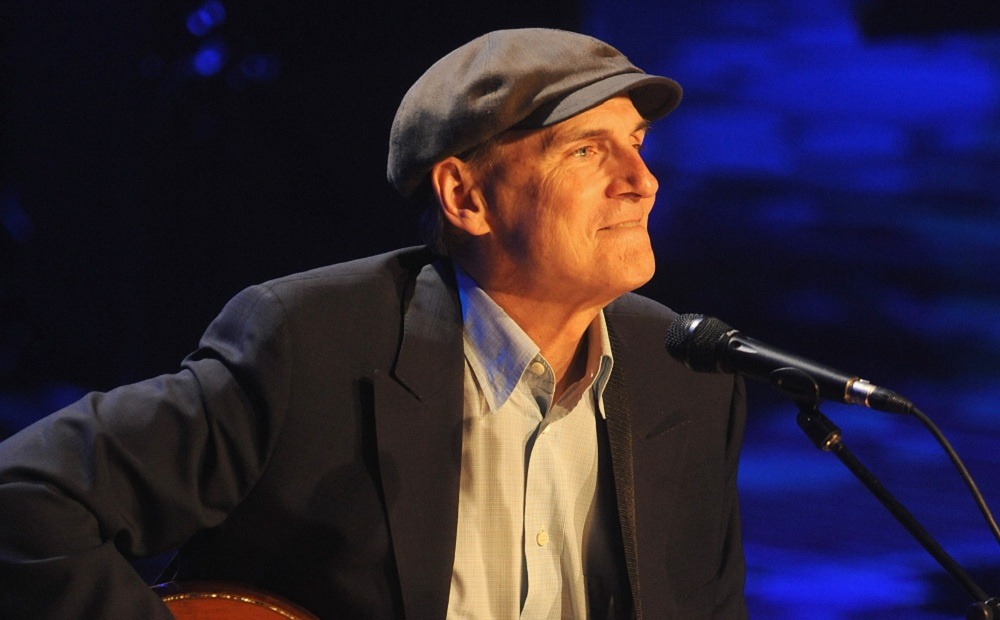 James Taylor strolls into the First Niagara Center on Tuesday. (Photo by Brad Barket/Getty Images)