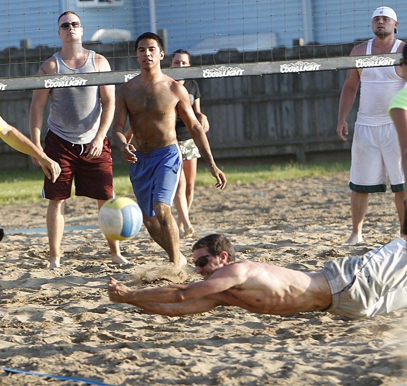 Volleyball leagues rage throughout the summer months at Dock at the Bay.
