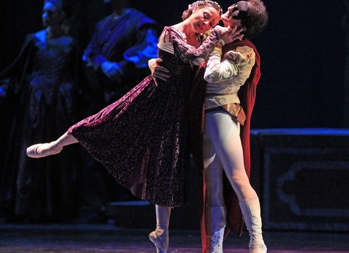 """Silvina Vaccarelli and Sergio Neglia perform in Sergei Prokofiev's """"Romeo and Juliet"""" at Shea's Performing Arts Center in Buffalo on Friday. (Harry Scull Jr./Buffalo News)"""