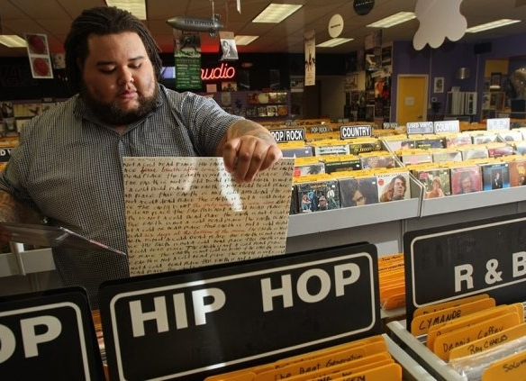 The sale of vinyl records, such as those sold at Record Theatre, are up almost 40 percent from last year.  {Sharon Cantillon/Buffalo News file photo}