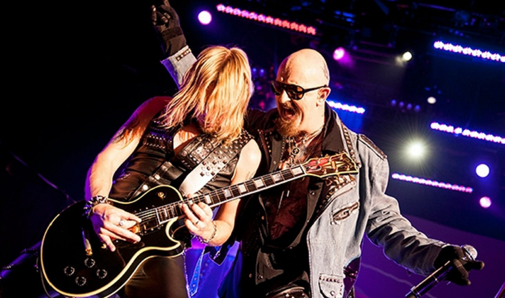 Richie Faulkner and Rob Halford of Judas Priest. (Getty Images)