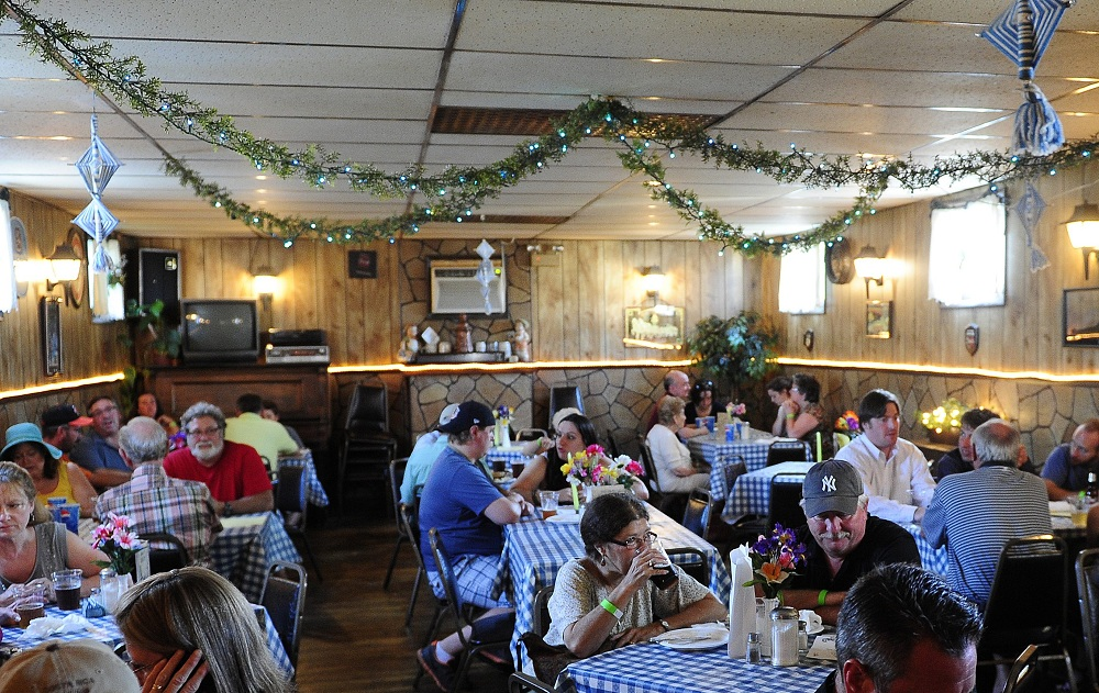 Customers dine at the former Scharf's in Schiller Park. The new West Seneca spot opens today. (Nick Agro / Buffalo News file photo)