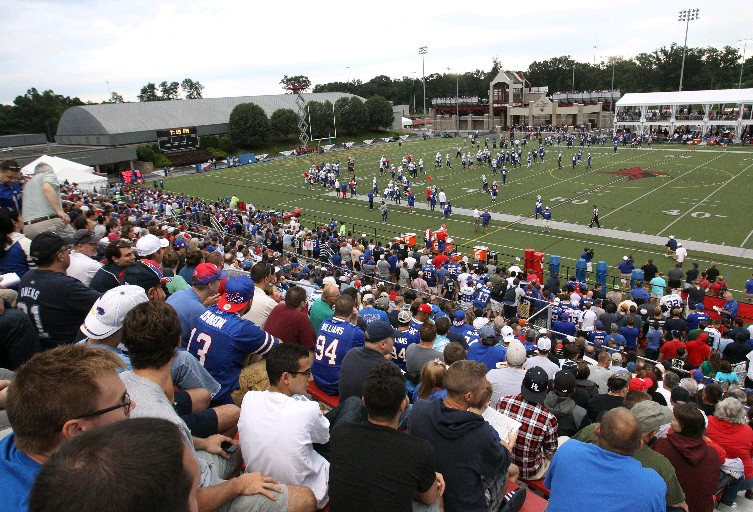 One of the typically large crowds for training camp during the 2013 sessions. (James P. McCoy/Buffalo News)