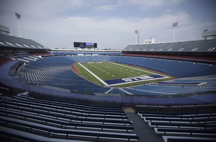 Ralph Wilson Stadium is undergoing $130 million in renovations. (Derek Gee/Buffalo News)